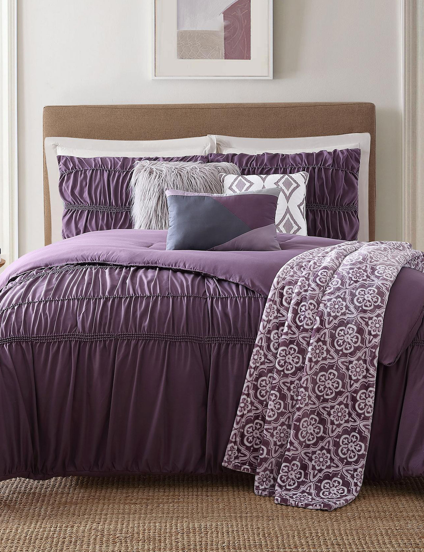 Jennifer Adams Plum Comforters & Comforter Sets