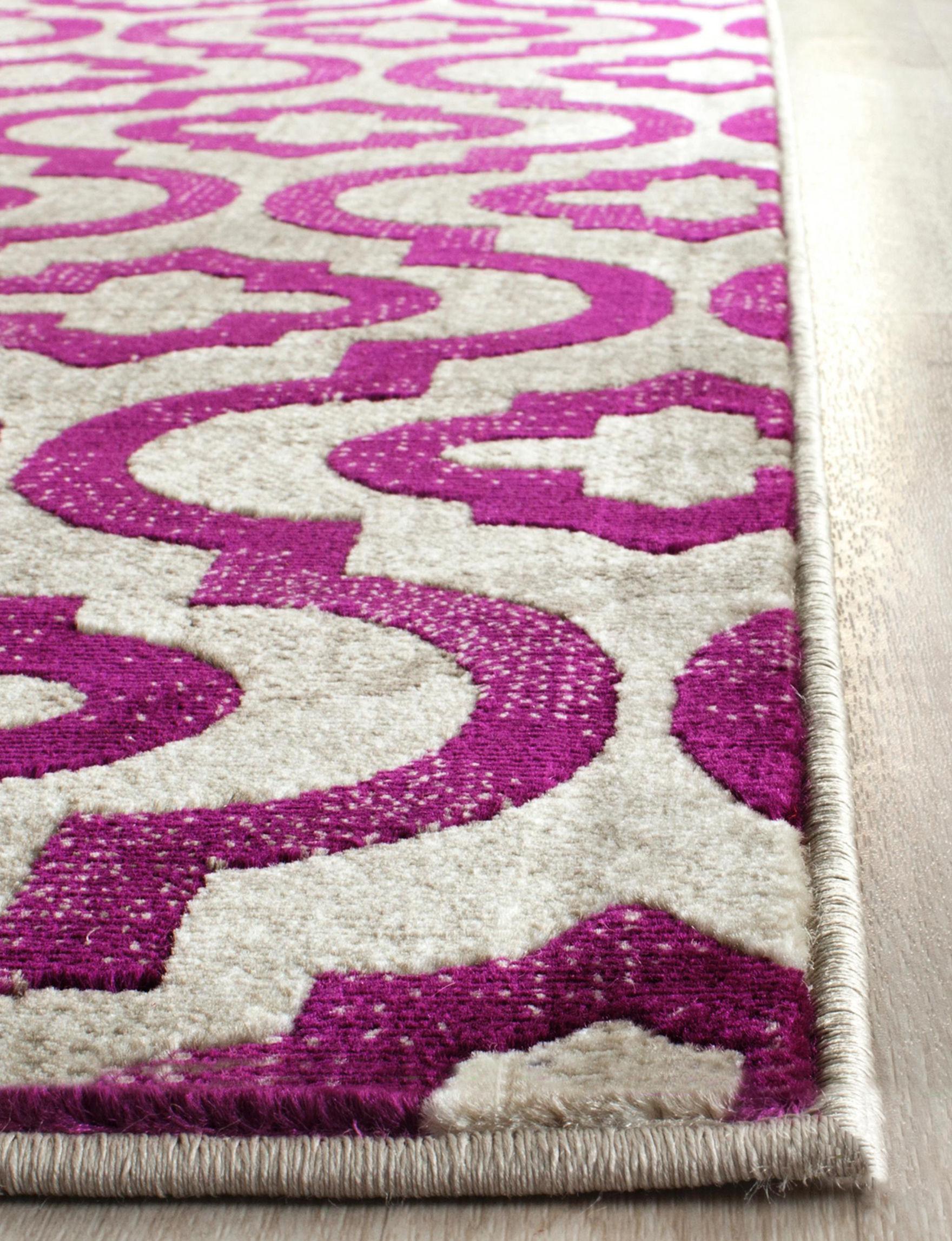 Safavieh Light Grey / Purple Area Rugs Rugs