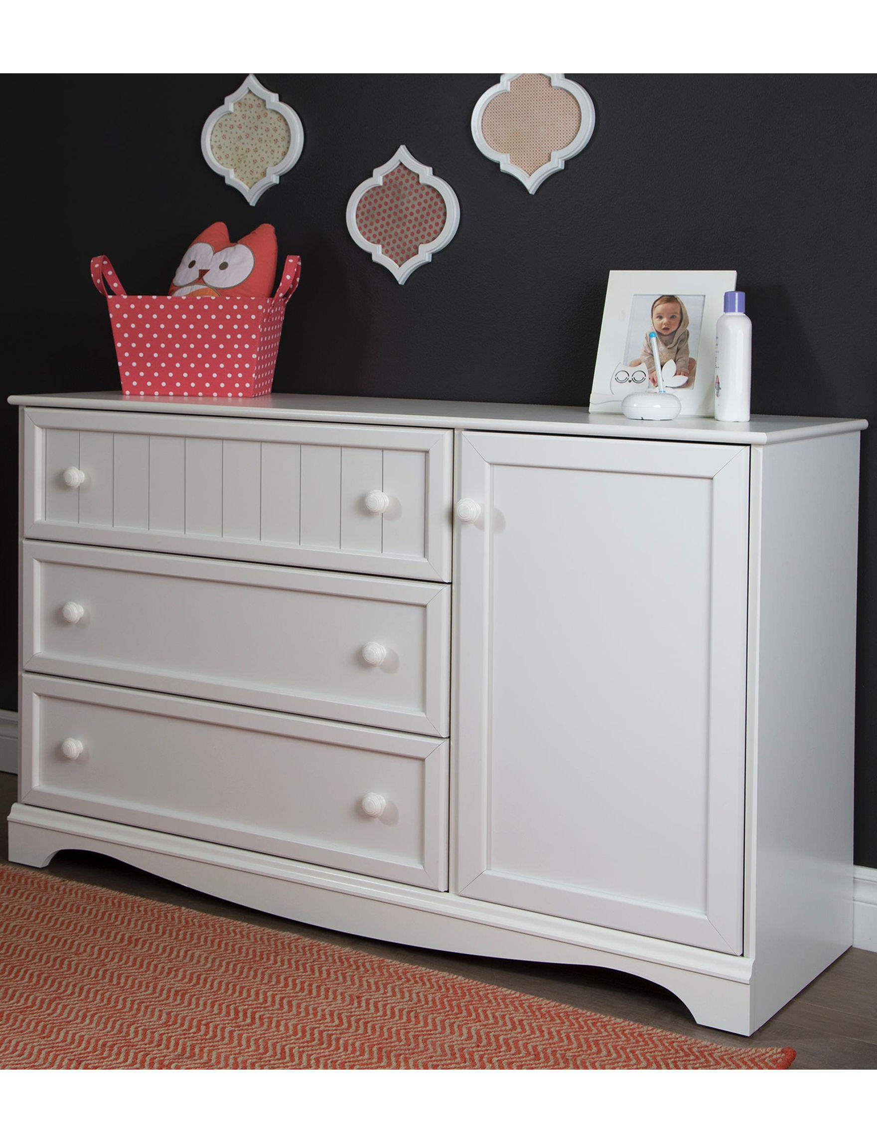 South Shore Pure White Bedroom Furniture