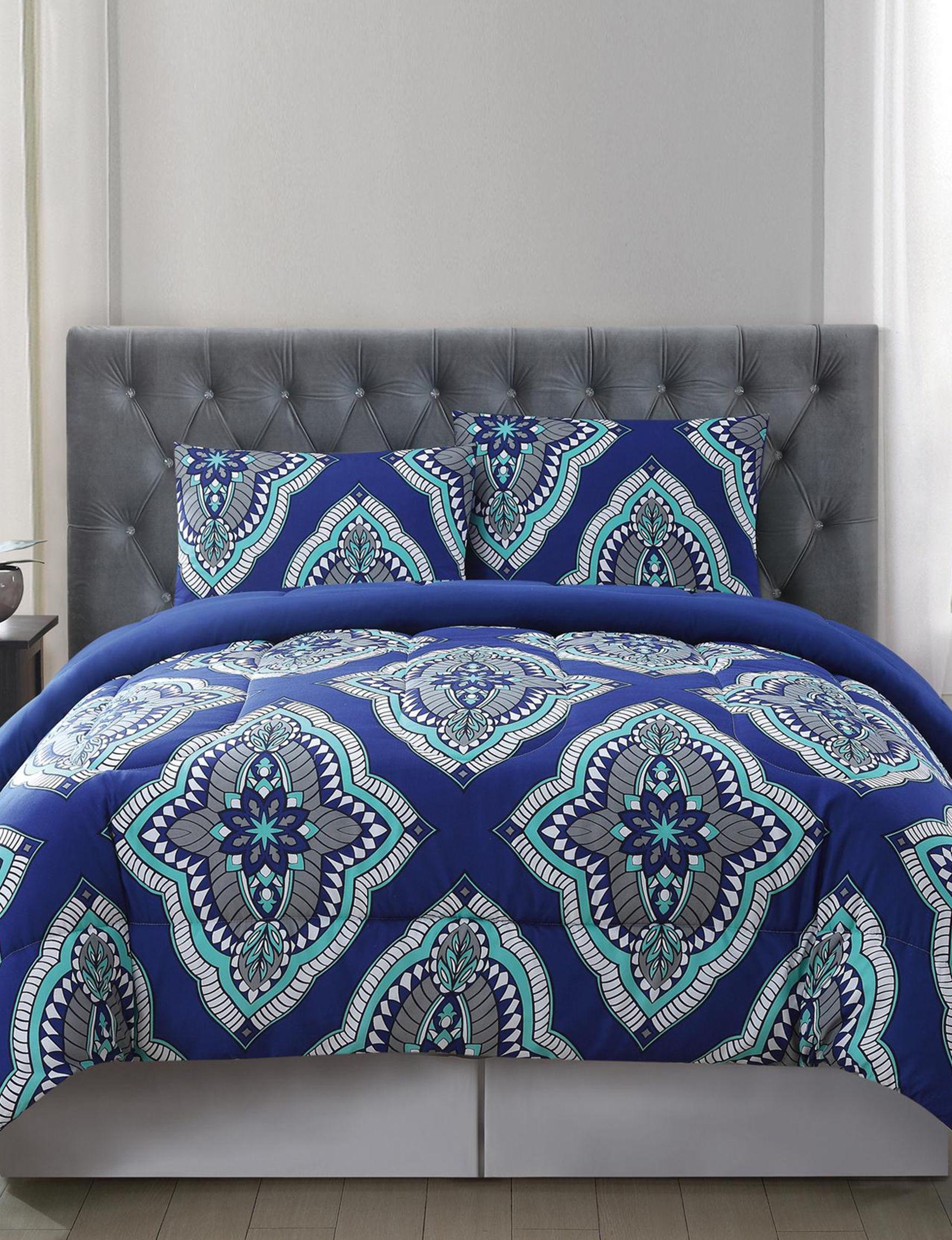 Truly Soft Blue Multi Comforters & Comforter Sets