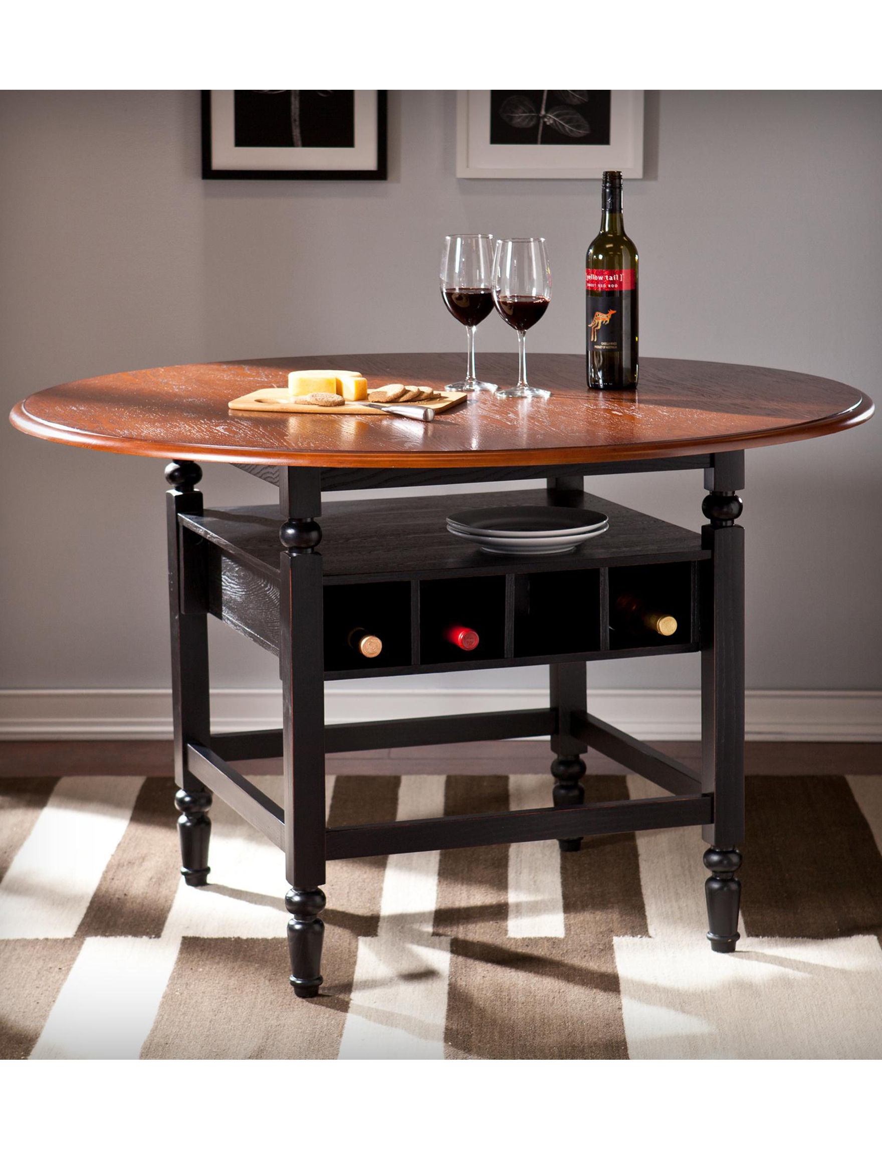 Southern Enterprises Black Dining Tables Home Accents Kitchen & Dining Furniture