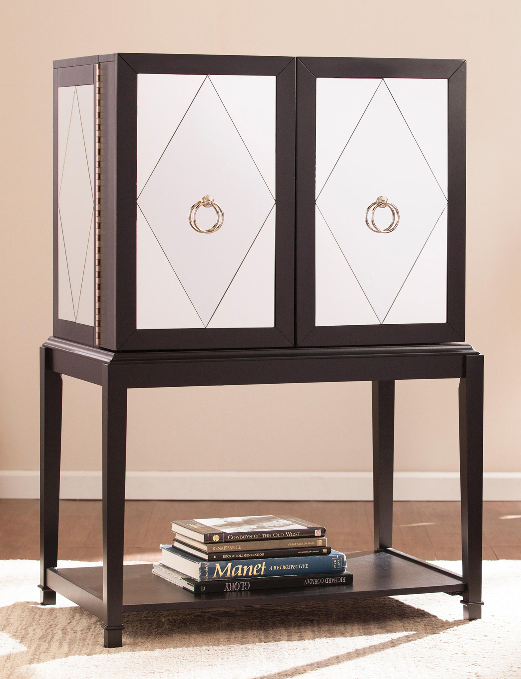 Southern Enterprises Black Bar & Wine Storage Wine Racks Home Accents Kitchen & Dining Furniture Living Room Furniture