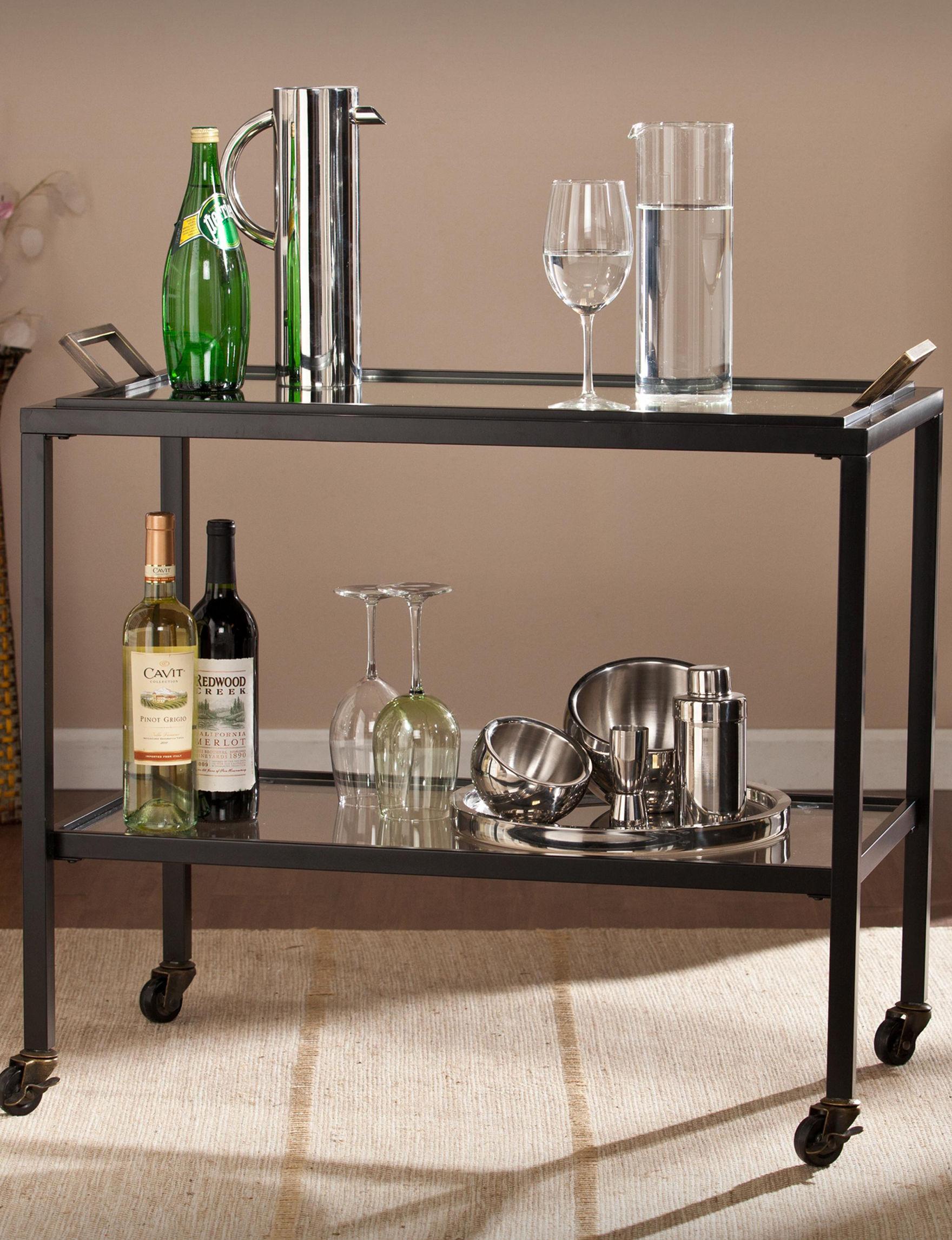 Southern Enterprises Black Bar & Wine Storage Home Accents Kitchen & Dining Furniture
