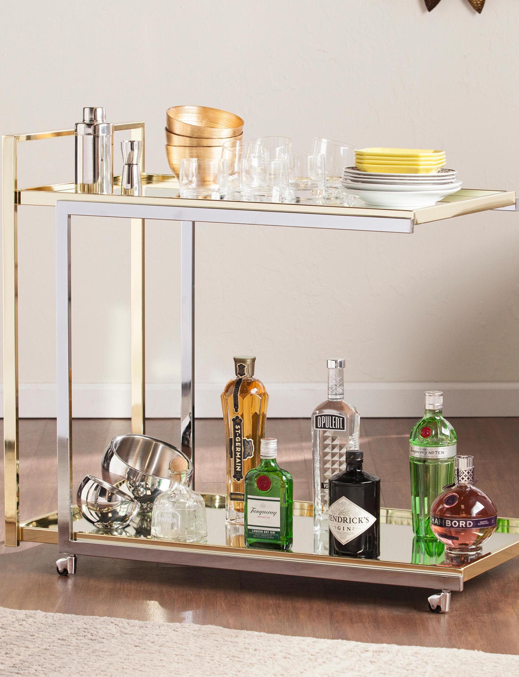 Southern Enterprises Grey Bar & Wine Storage Kitchen Islands & Carts Home Accents Kitchen & Dining Furniture