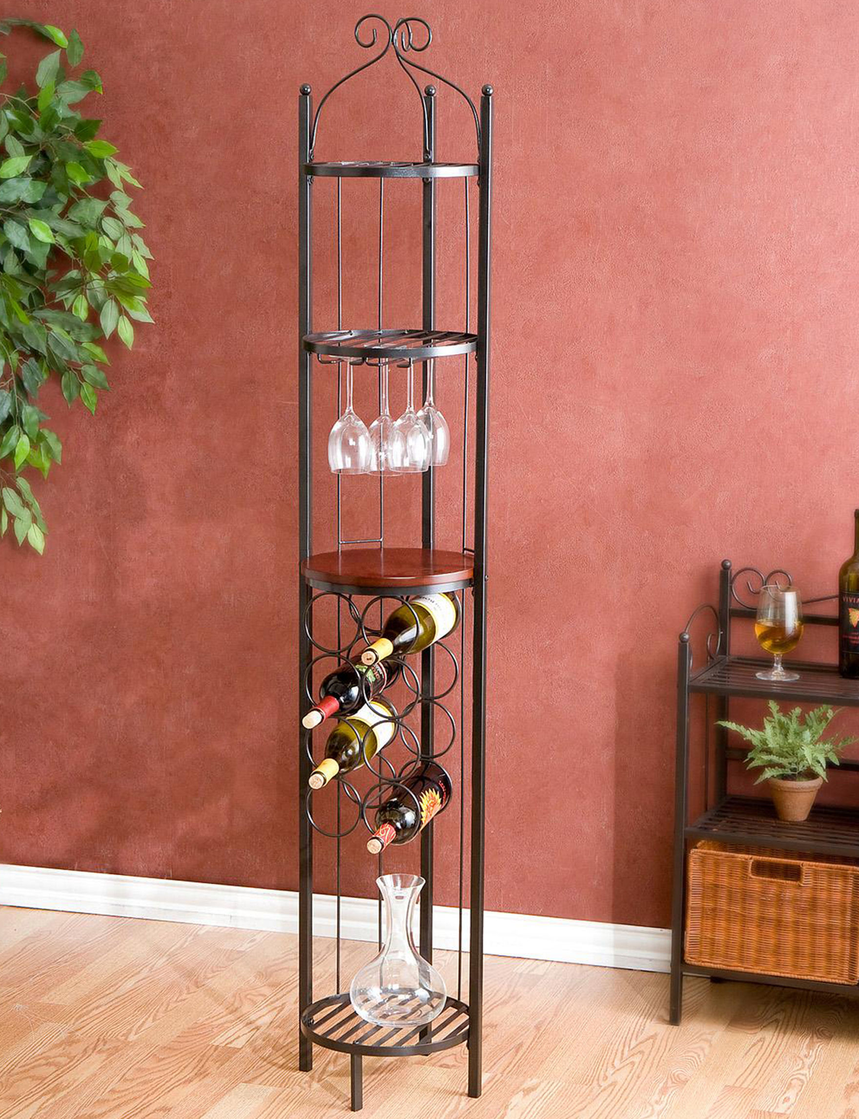 Southern Enterprises Grey Bar & Wine Storage Wine Racks Home Accents Kitchen & Dining Furniture