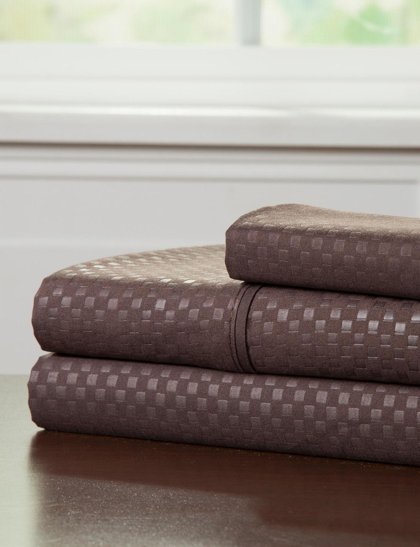 Lavish Home Brown Sheets & Pillowcases
