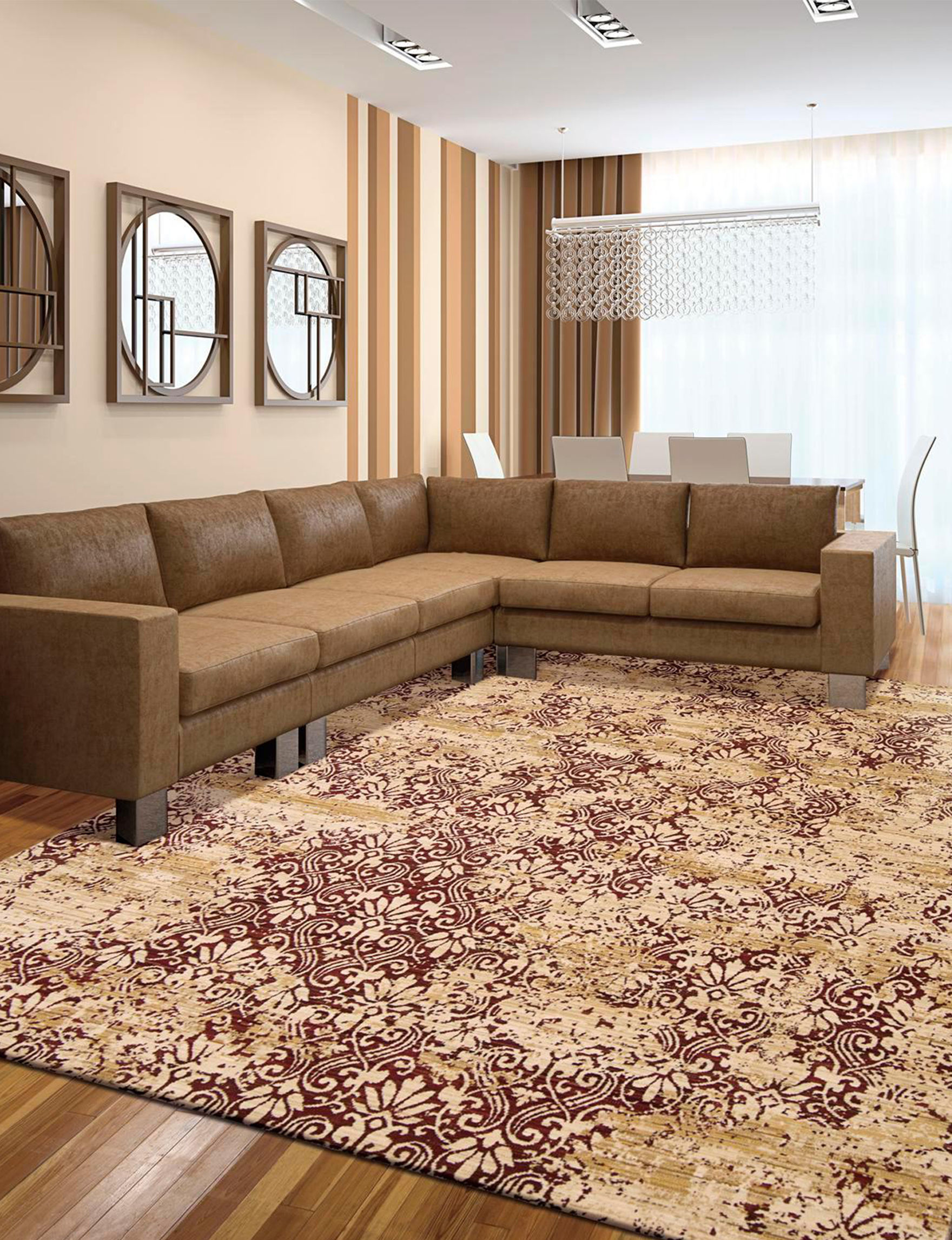 Nourison Red / Gold Area Rugs Rugs