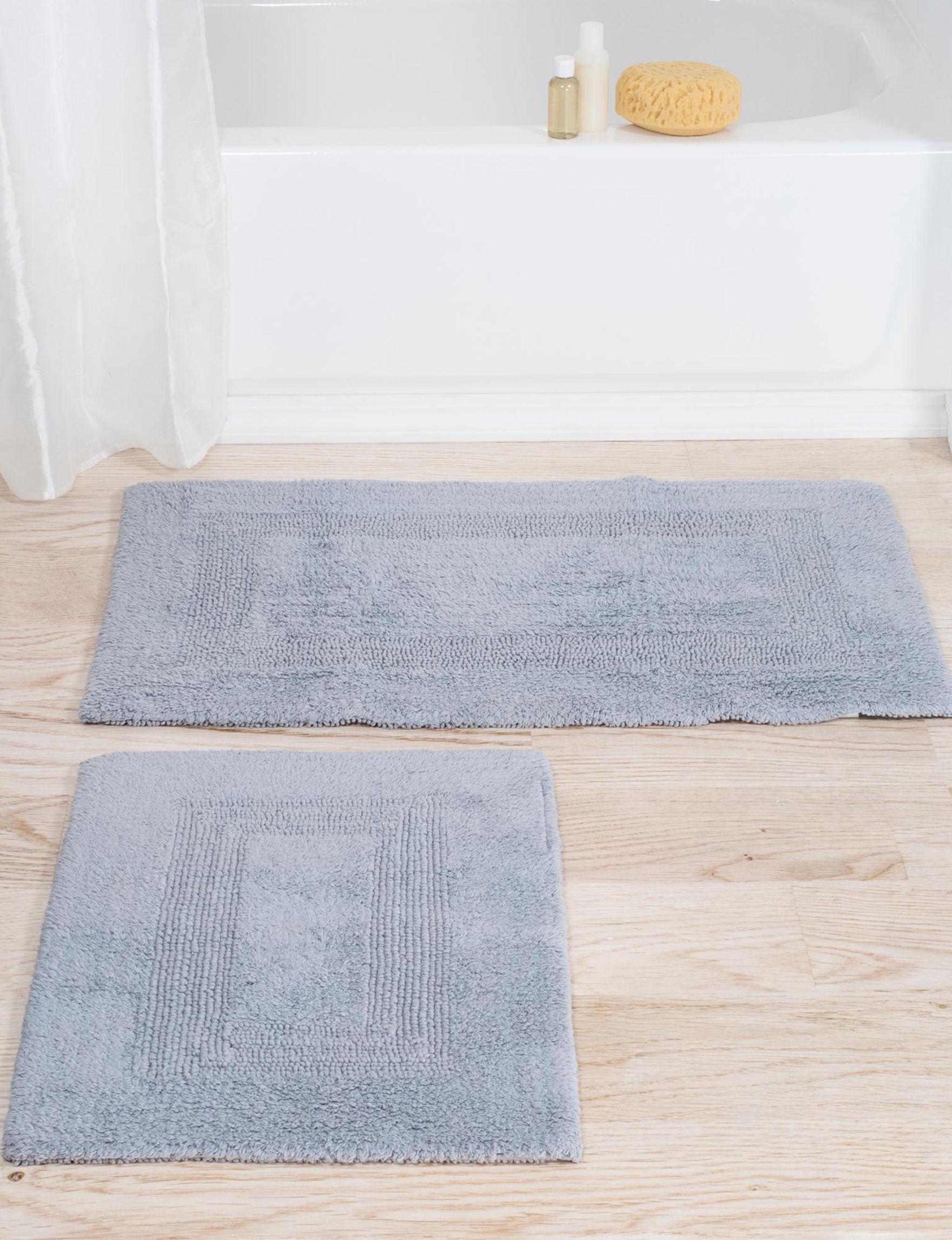 Lavish Home Silver Bath Rugs & Mats Rugs
