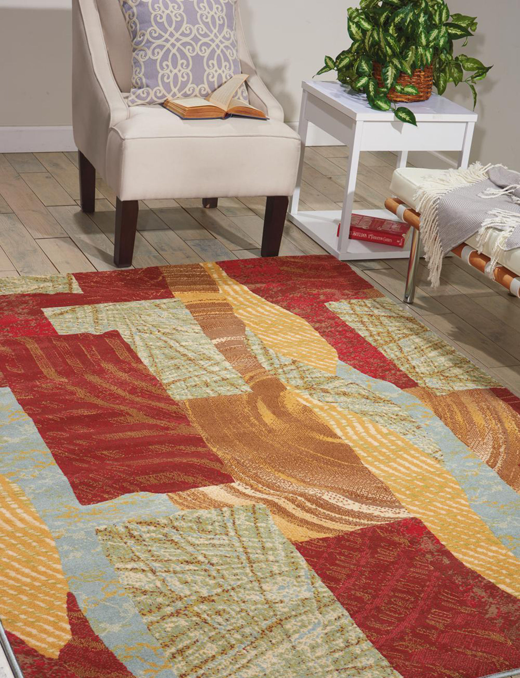Nourison Red Multi Accent Rugs Area Rugs Rugs