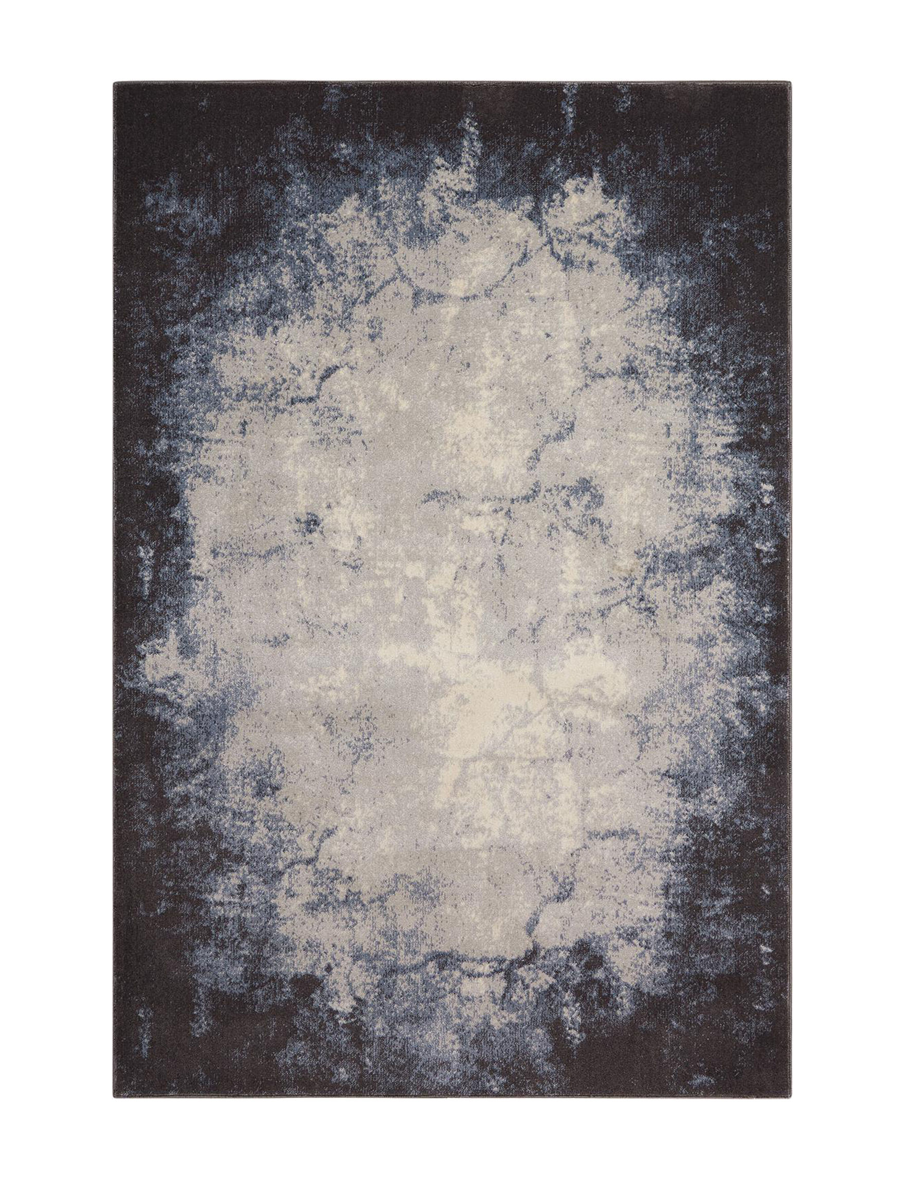 Nourison Ivory / Grey Area Rugs Rugs
