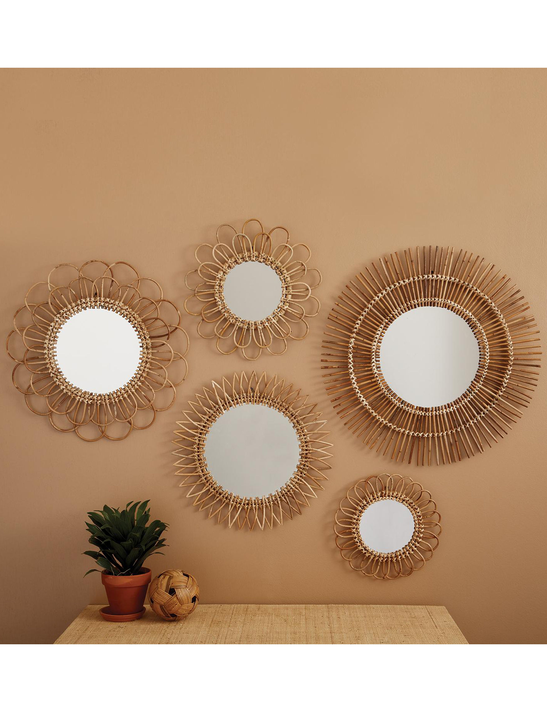 Two's Company Gold Mirrors Wall Decor