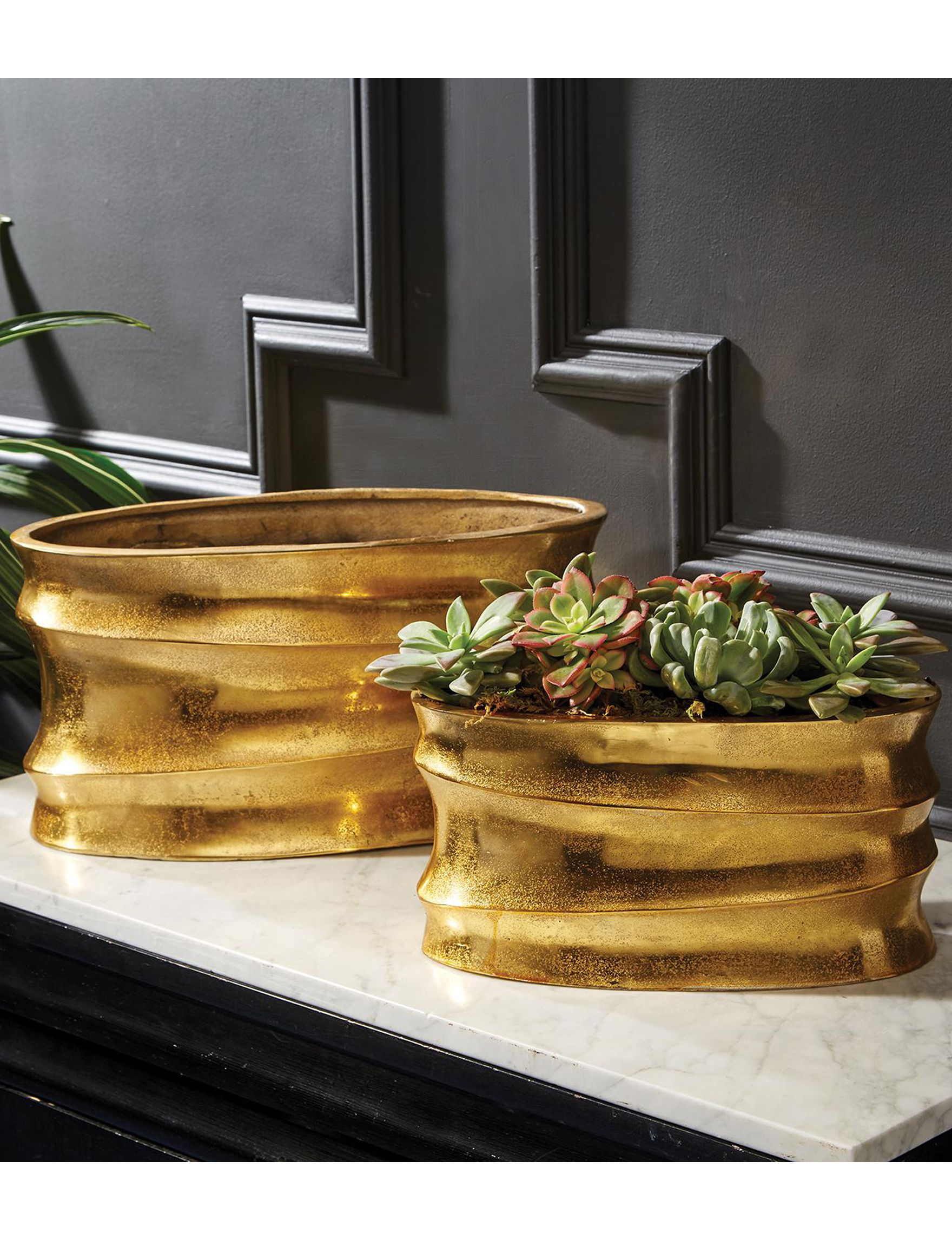 Two's Company Gold Vases & Decorative Bowls Home Accents