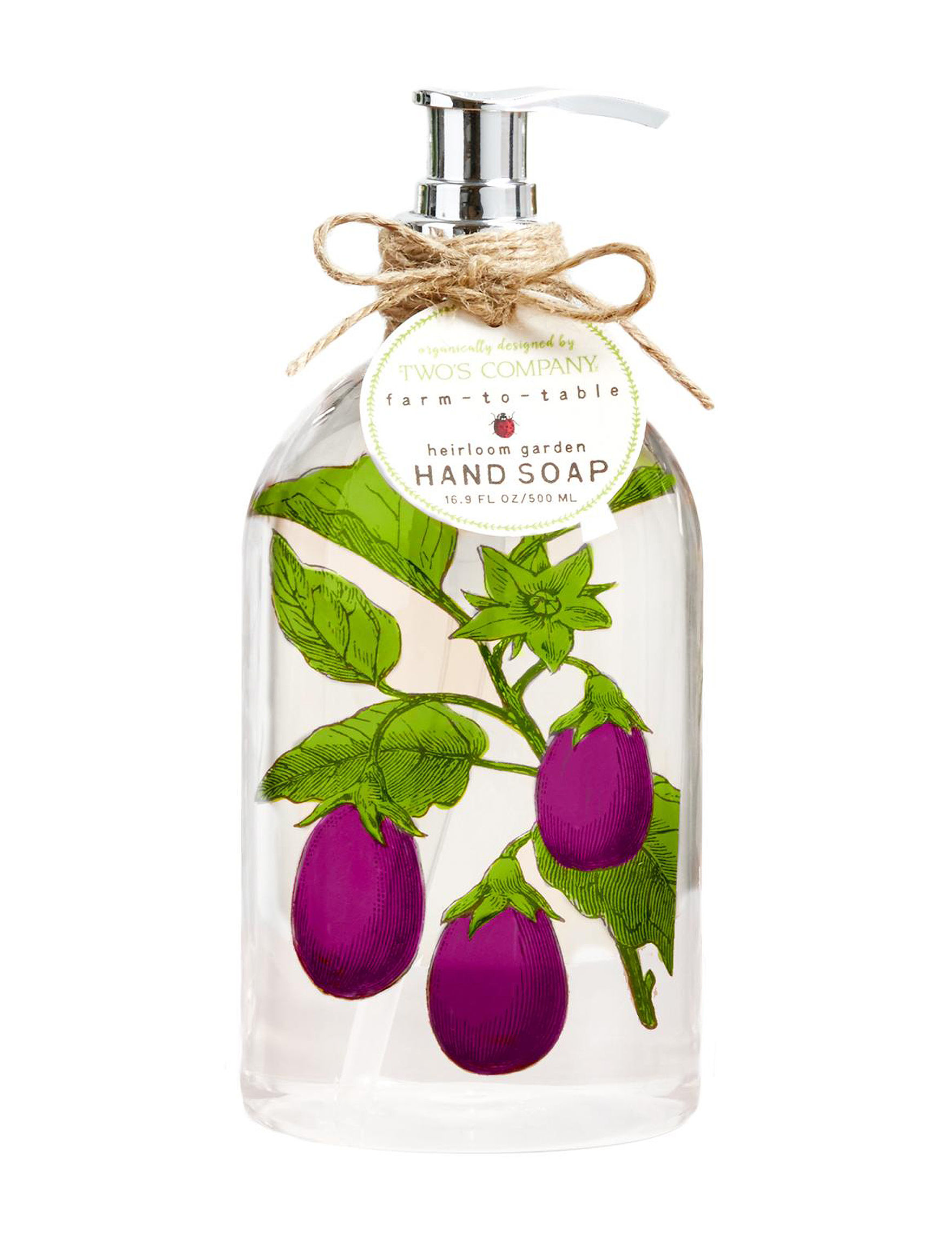 Two's Company Eggplant Soaps Home Accents