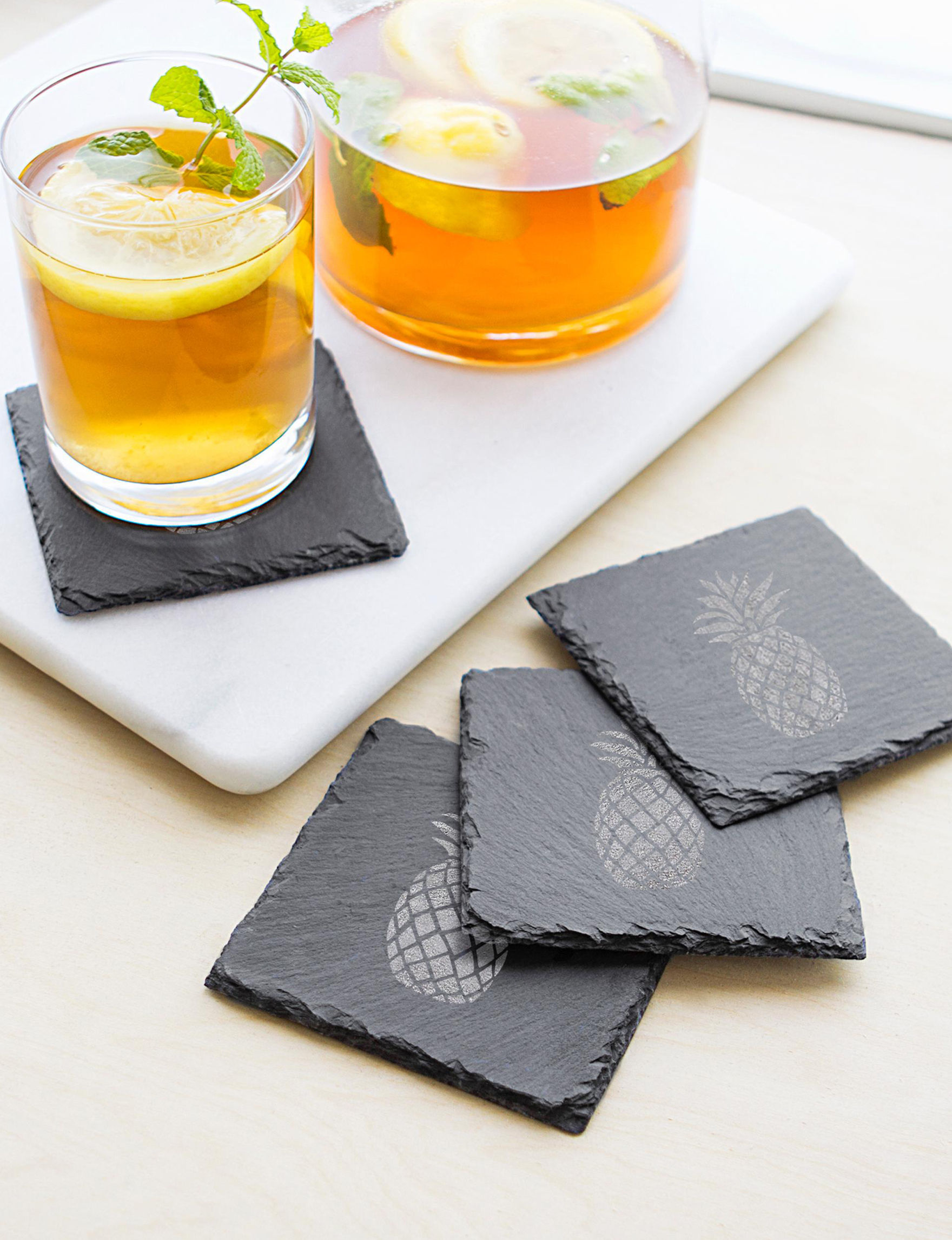 Cathy's Concepts Black Coasters