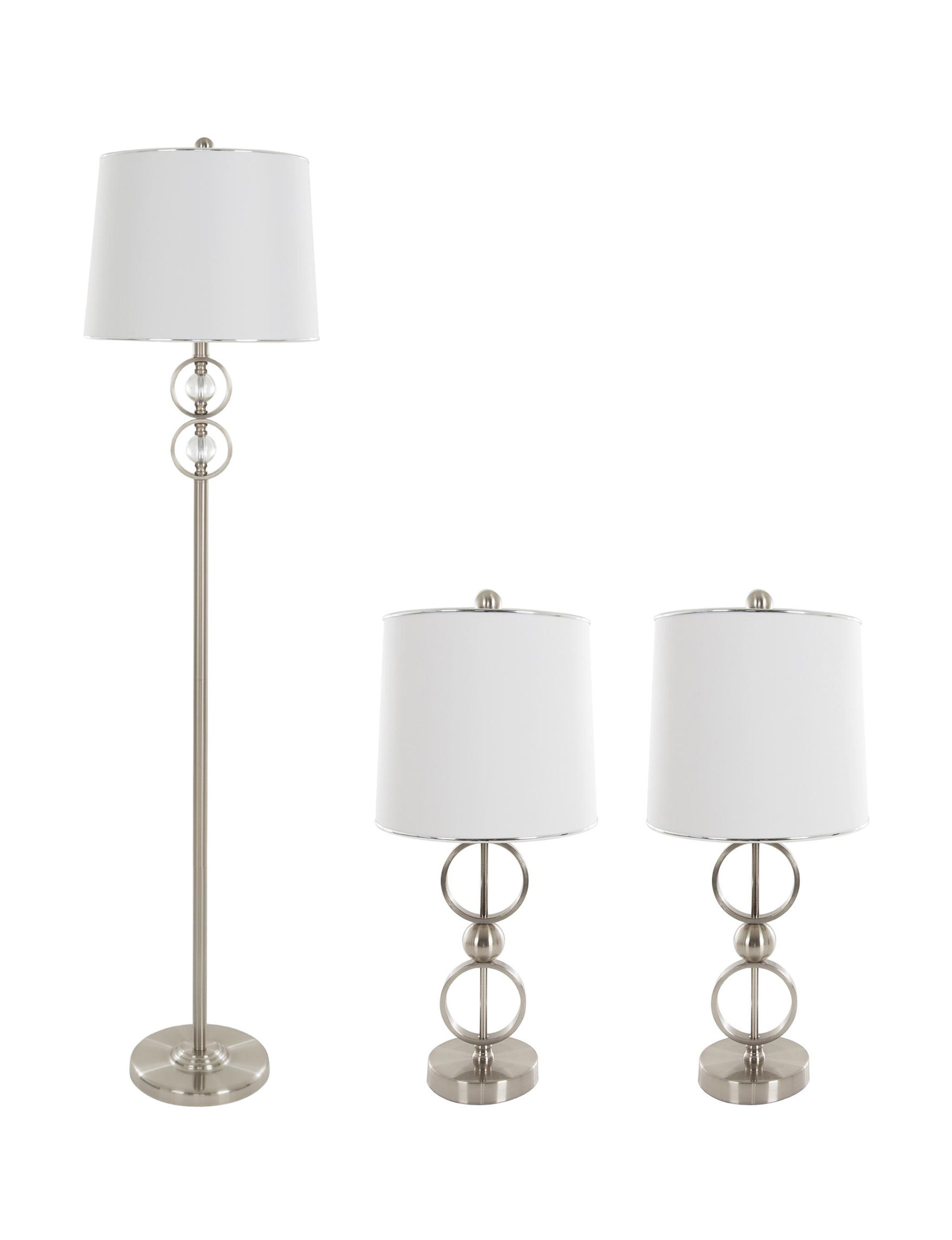 Lavish Home Silver Floor Lamps Table Lamps Lighting & Lamps