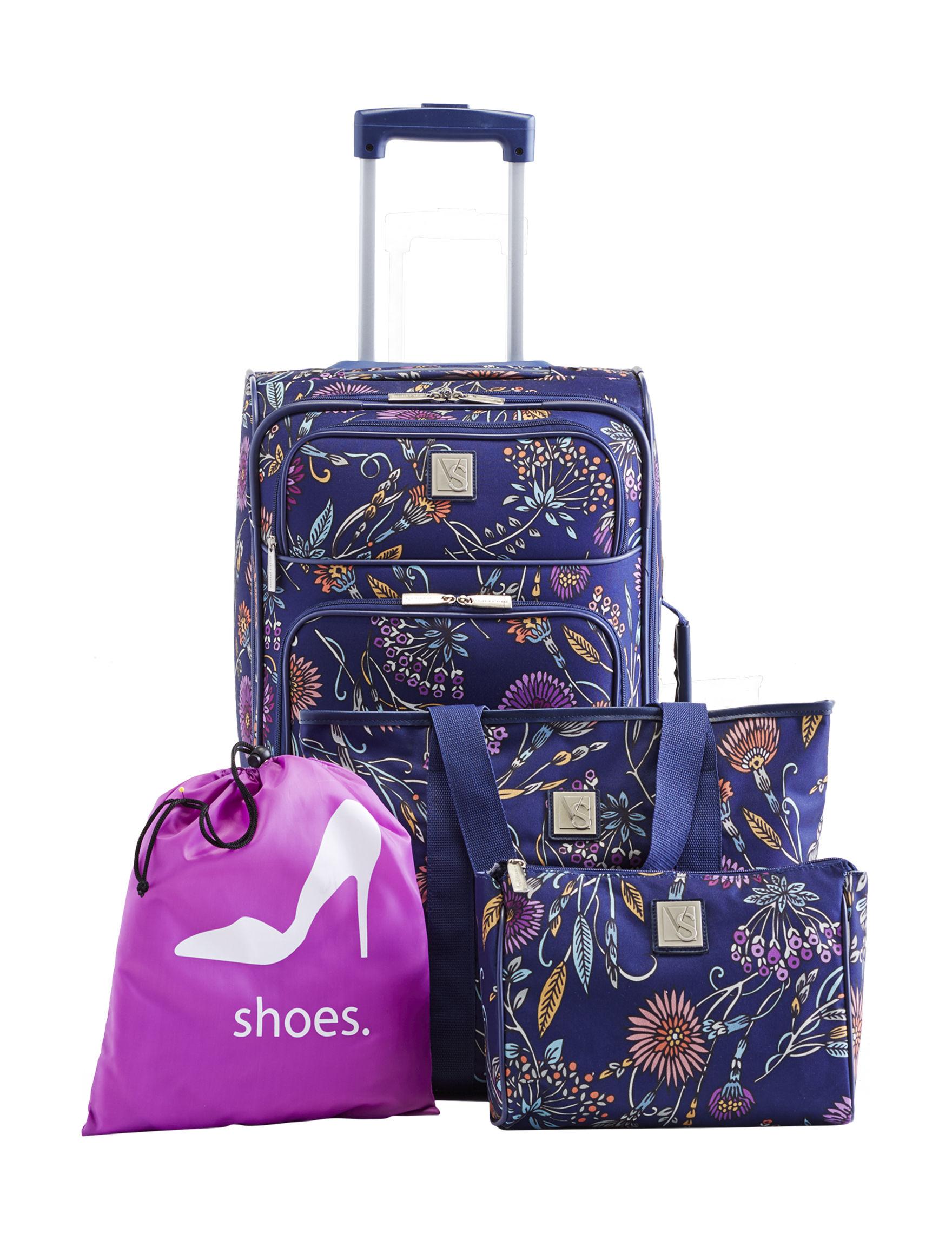 Valerie Stevens Navy Luggage Sets