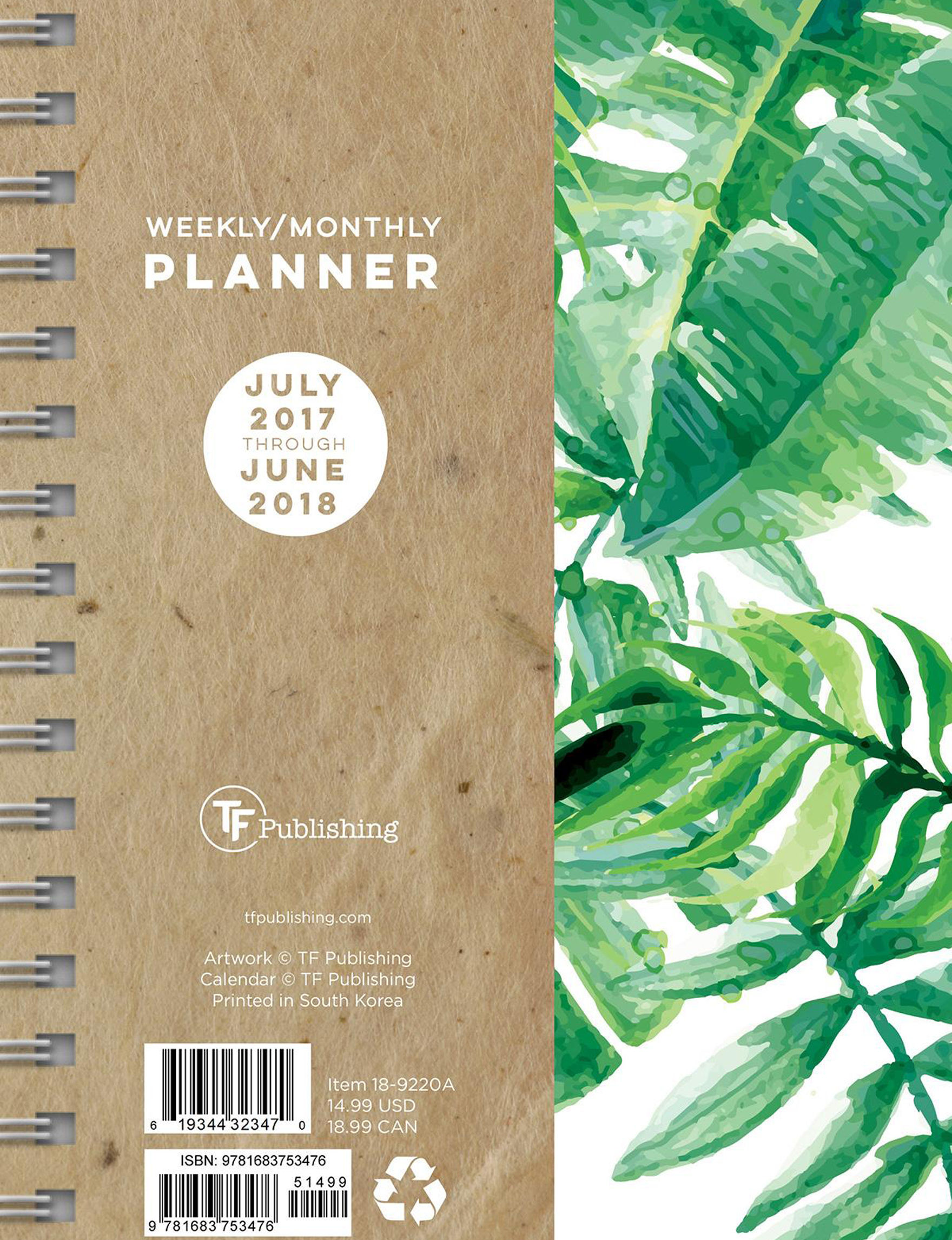 TFI Publishing Green Calendars & Planners School & Office Supplies