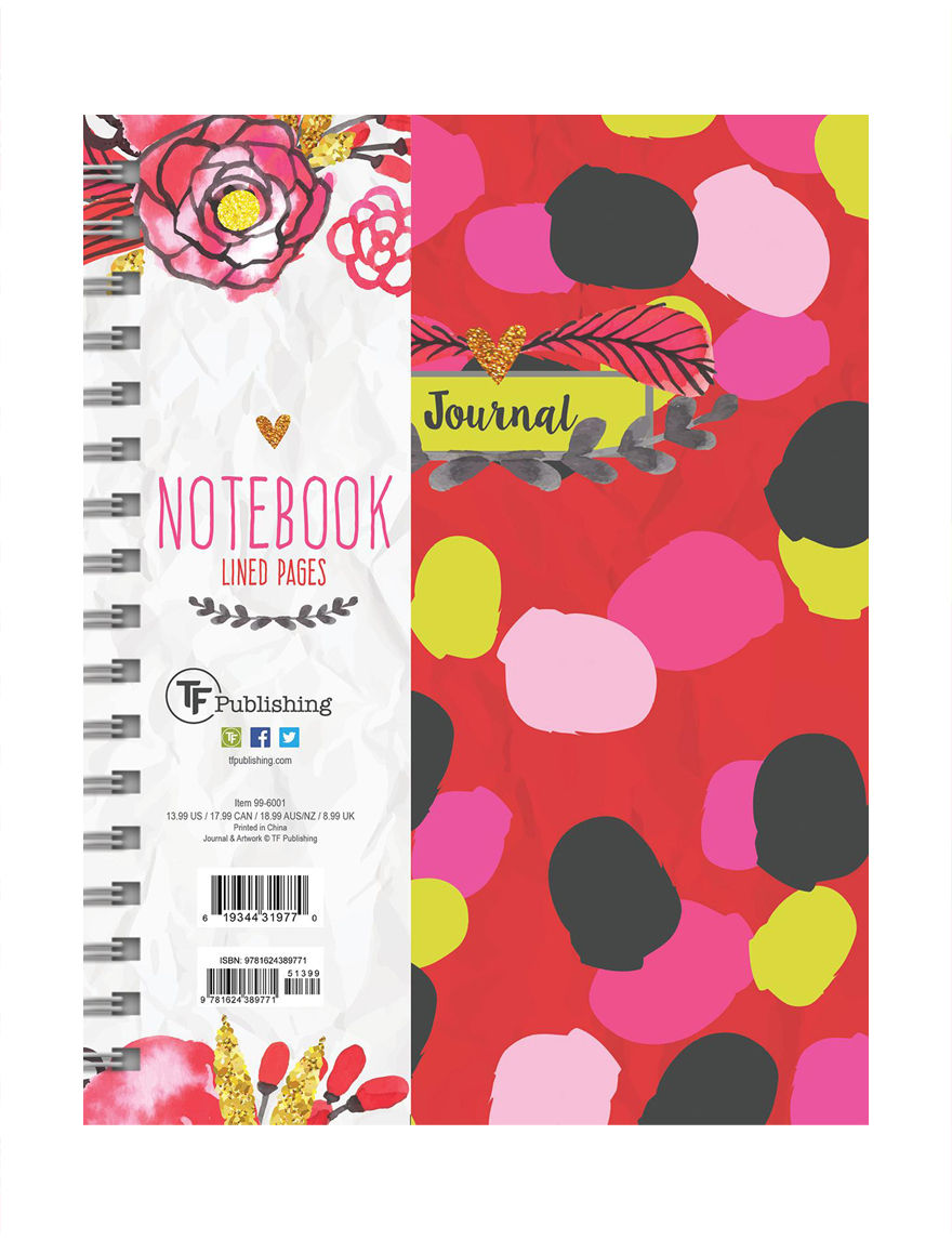 TF Publishing Red Multi Journals & Notepads School & Office Supplies