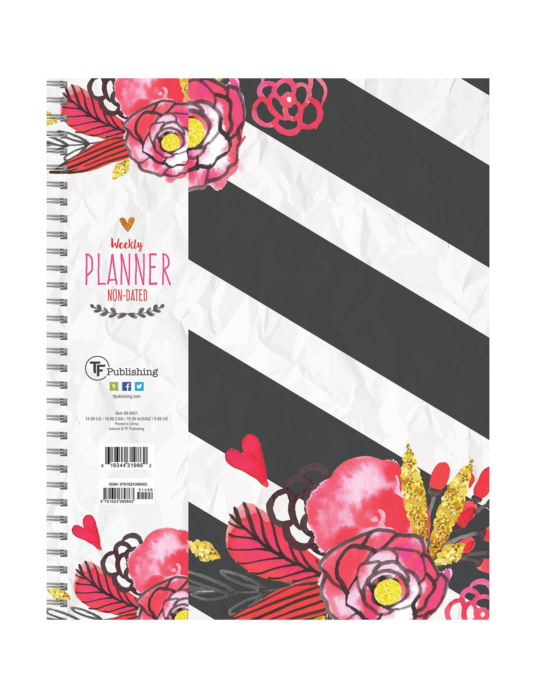TF Publishing Black / White Calendars & Planners School & Office Supplies