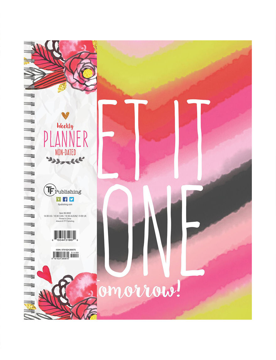TF Publishing Pink Multi Calendars & Planners School & Office Supplies