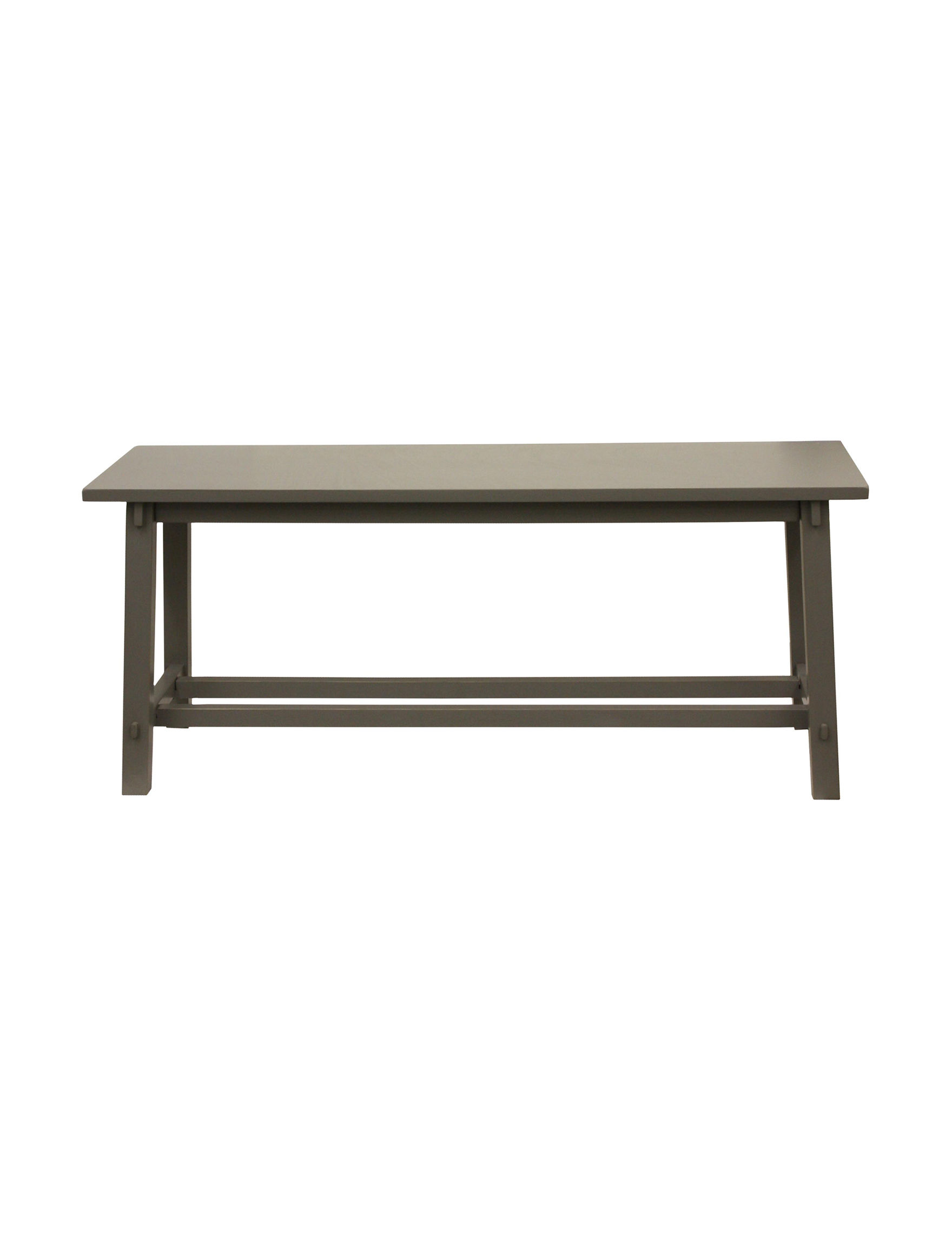 Decor Therapy Grey Ottomans & Benches Bedroom Furniture Entryway Furniture Living Room Furniture