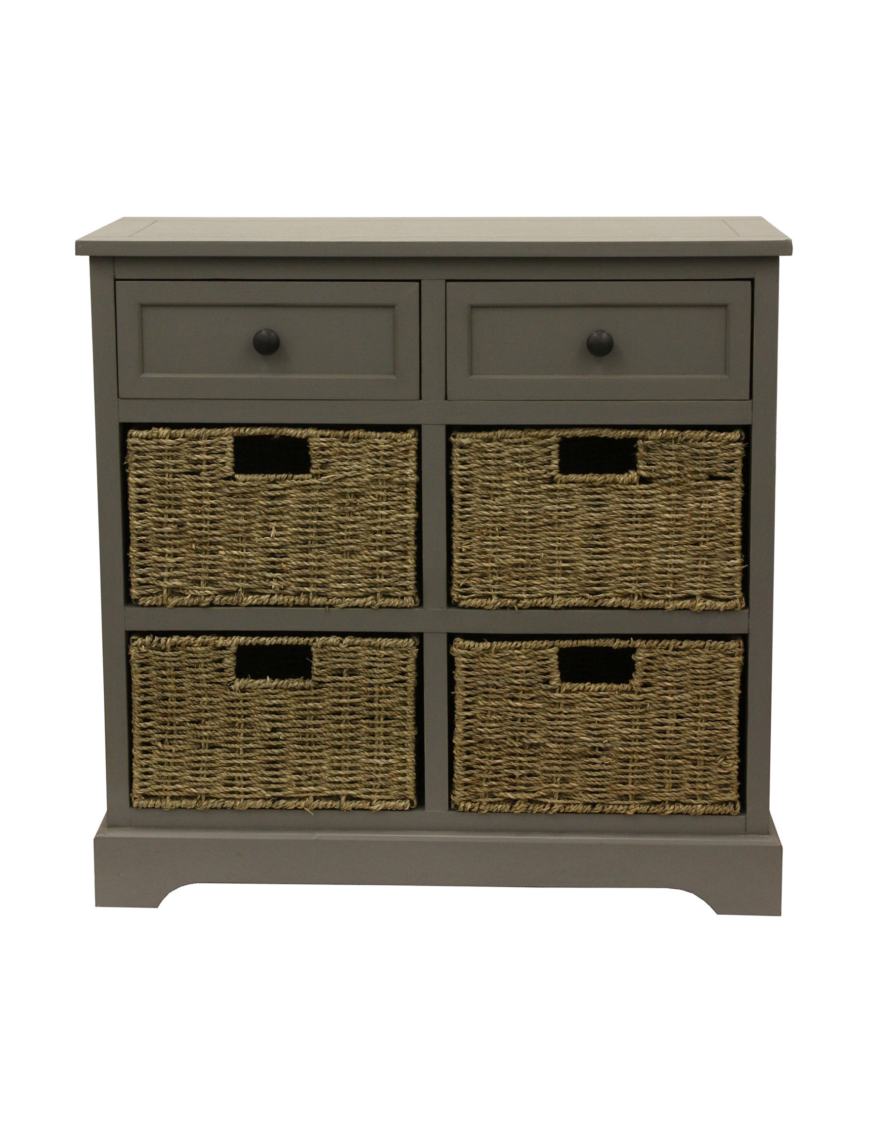 Decor Therapy Grey Dressers & Chests Bathroom Furniture Bedroom Furniture Home Office Furniture Living Room Furniture