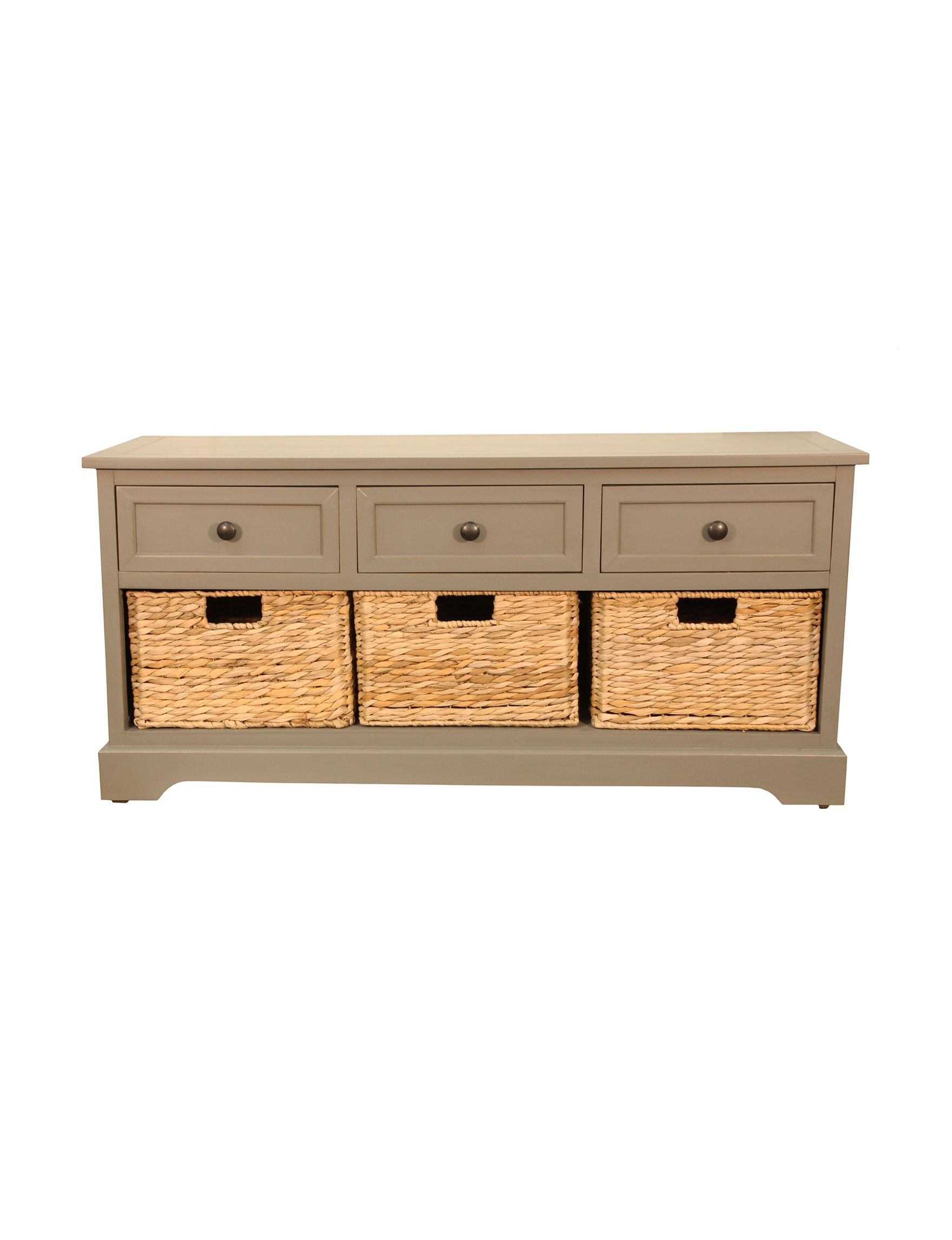 Decor Therapy Montgomery Antique Grey Bench Stage Stores