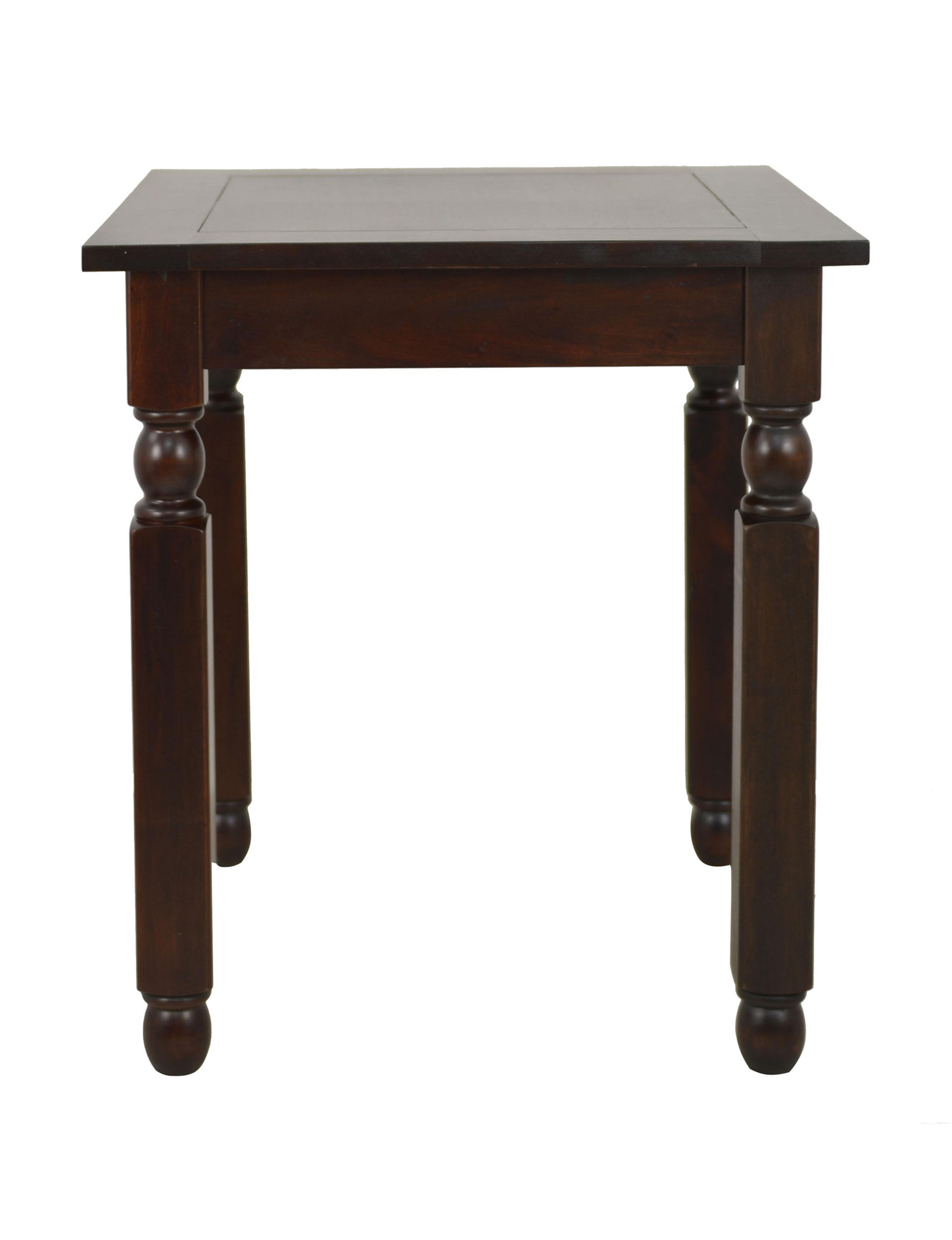 Decor Therapy Mahogany Accent & End Tables Living Room Furniture
