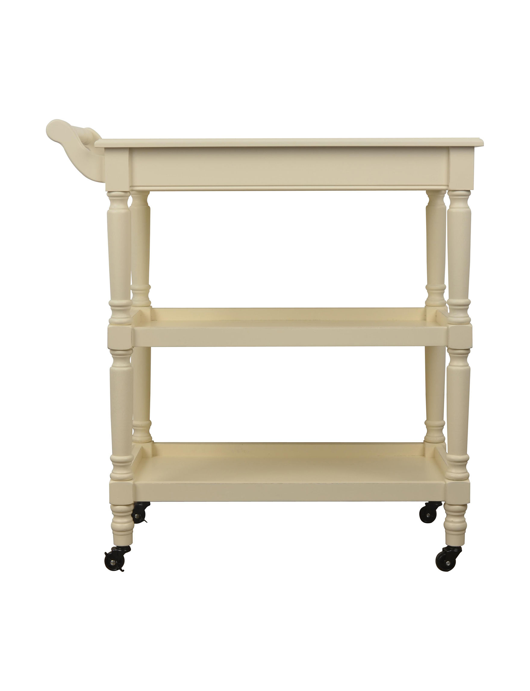 Decor Therapy White Bar & Wine Storage Kitchen Islands & Carts Kitchen & Dining Furniture