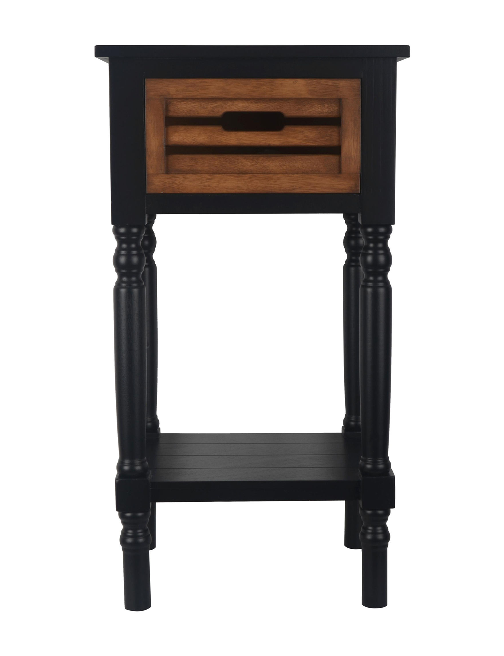 Decor Therapy Black / Brown Accent & End Tables Night Stands Bedroom Furniture Entryway Furniture Home Office Furniture Living Room Furniture