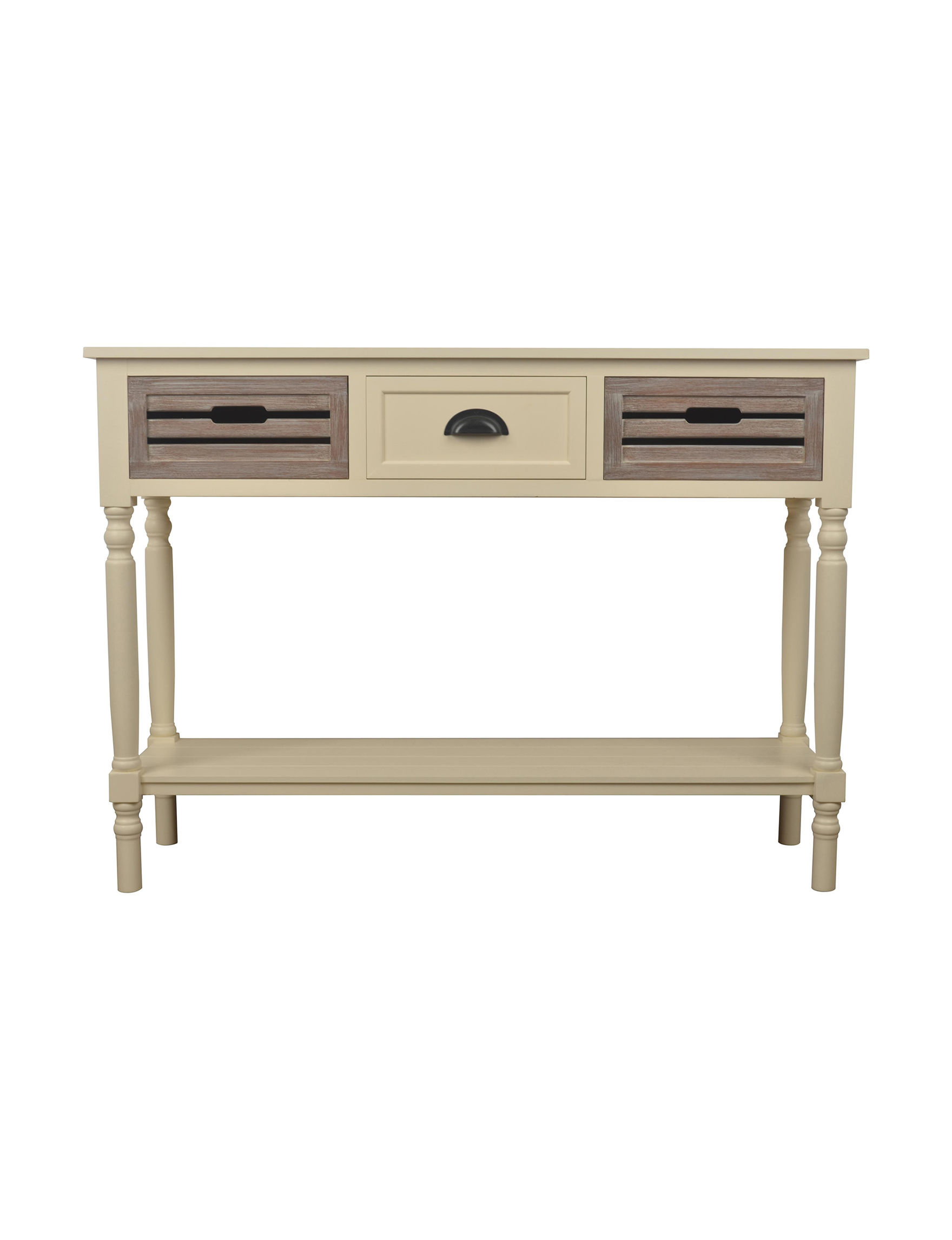 Decor Therapy White Accent & End Tables Entryway Furniture Home Office Furniture