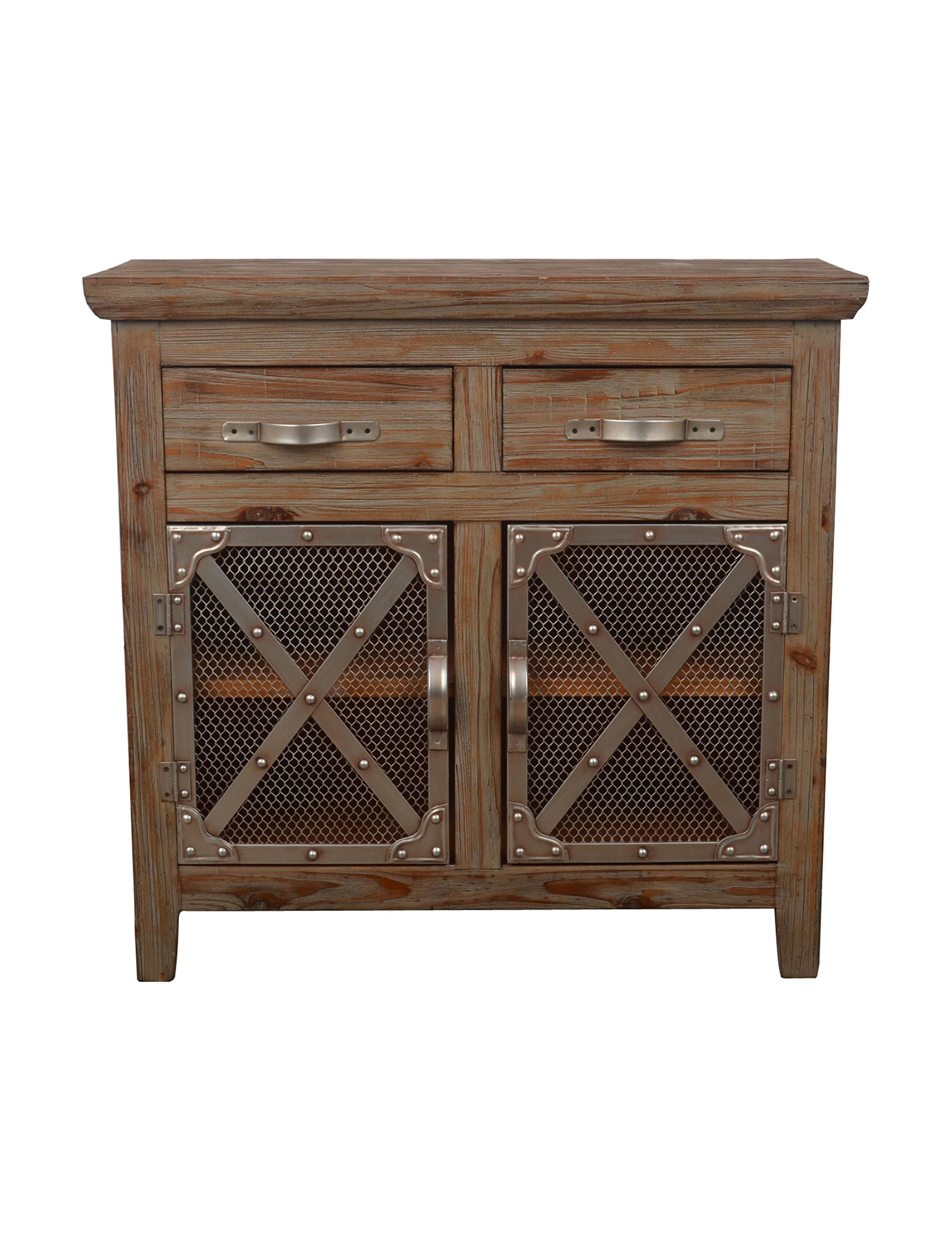 Decor Therapy Brown Bar & Wine Storage Cabinets & Cupboards Kitchen & Dining Furniture Living Room Furniture