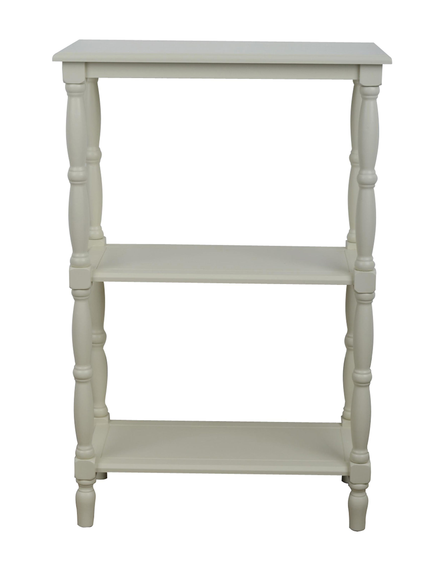 Decor Therapy Antique White Bookcases & Shelves Bedroom Furniture Entryway Furniture Home Office Furniture
