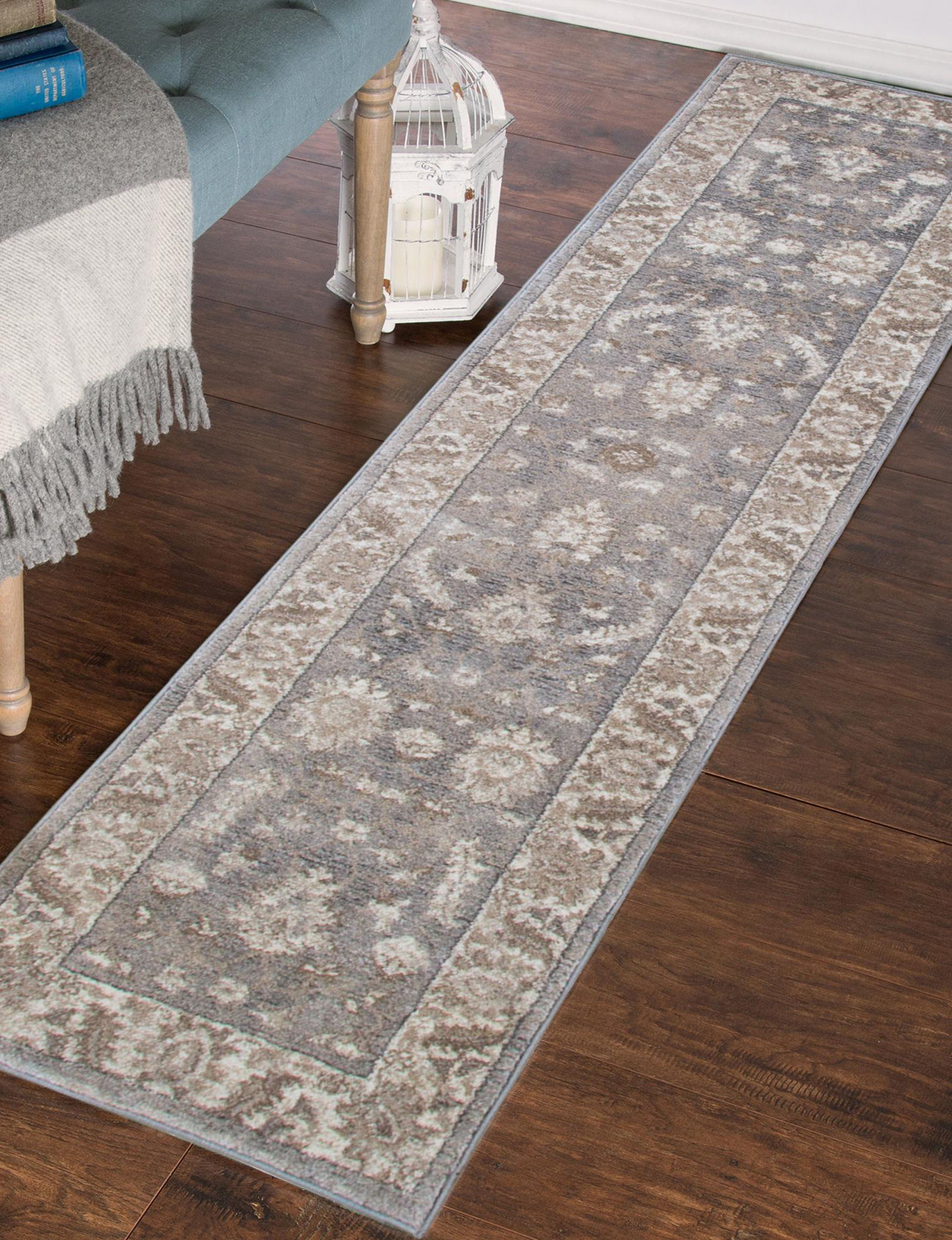 Lavish Home Grey Area Rugs Runners Rugs