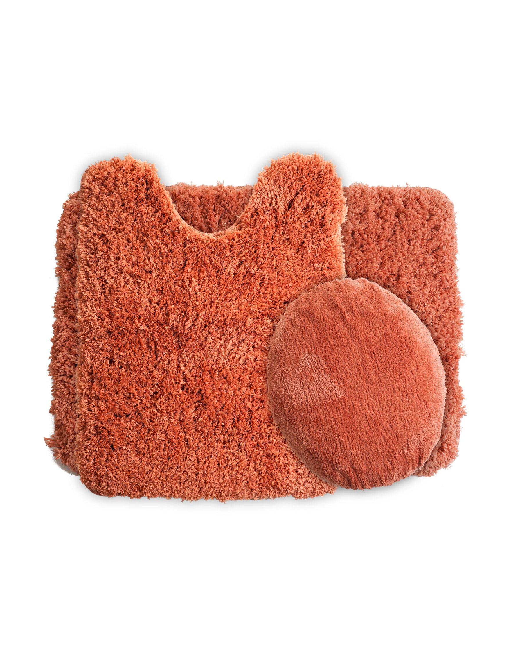 Lavish Home Rust Bath Rugs & Mats