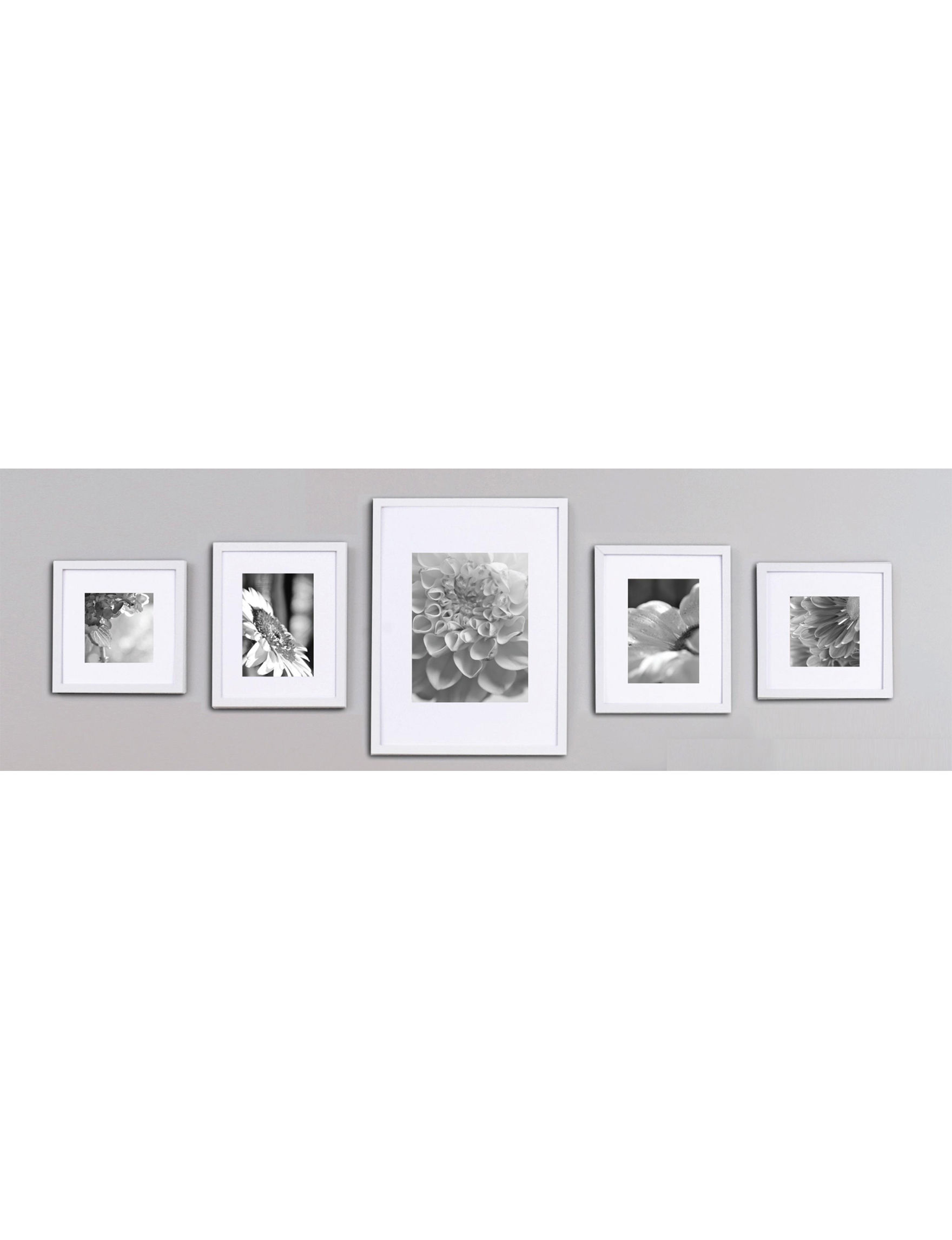 Gallery Solutions White Frames & Shadow Boxes Home Accents