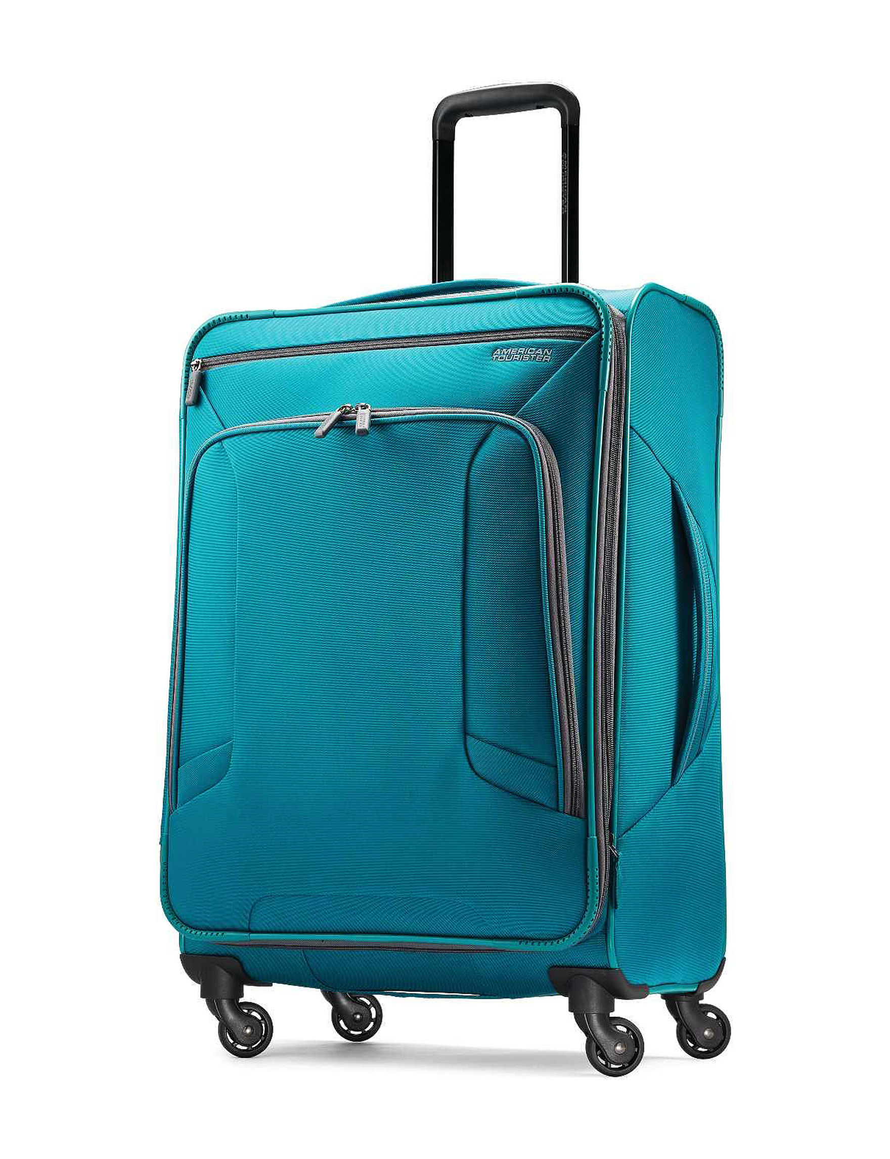 American Tourister Teal Upright Spinners