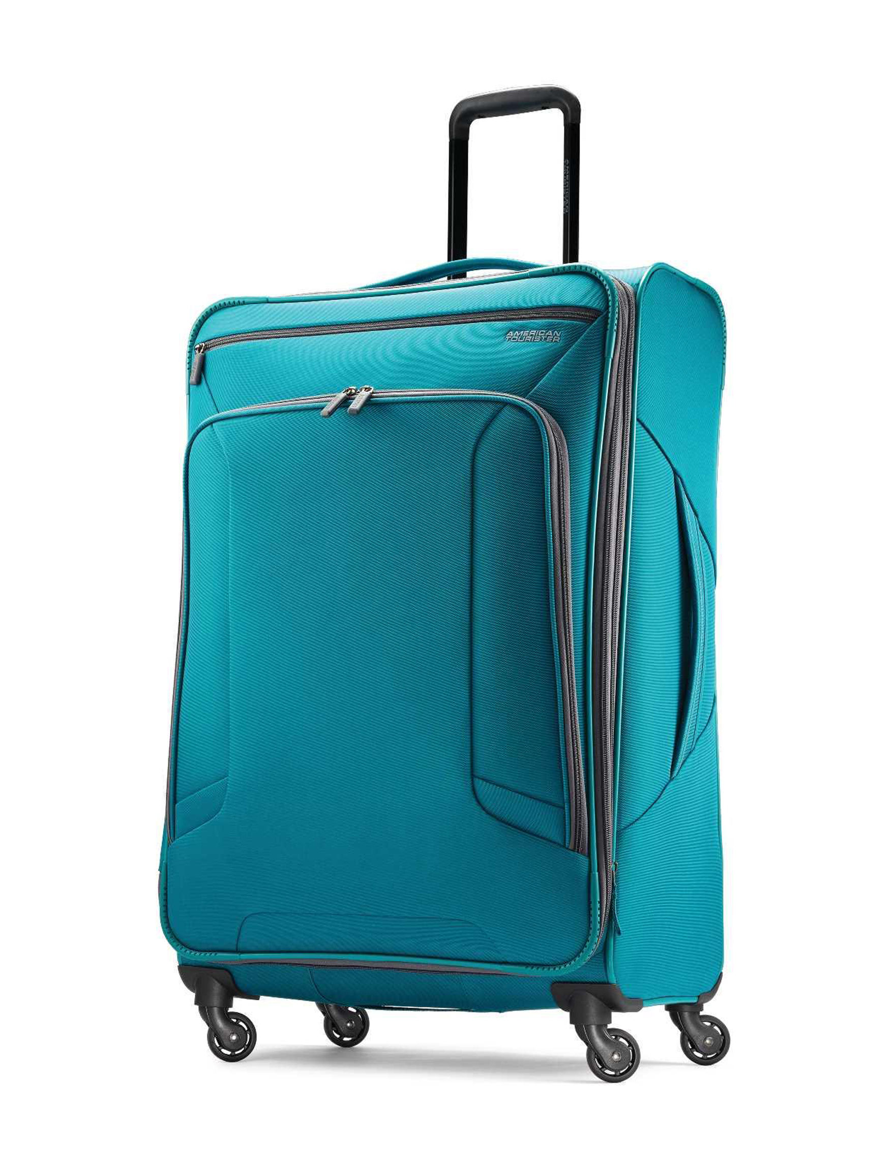 American Tourister Teal Softside Upright Spinners