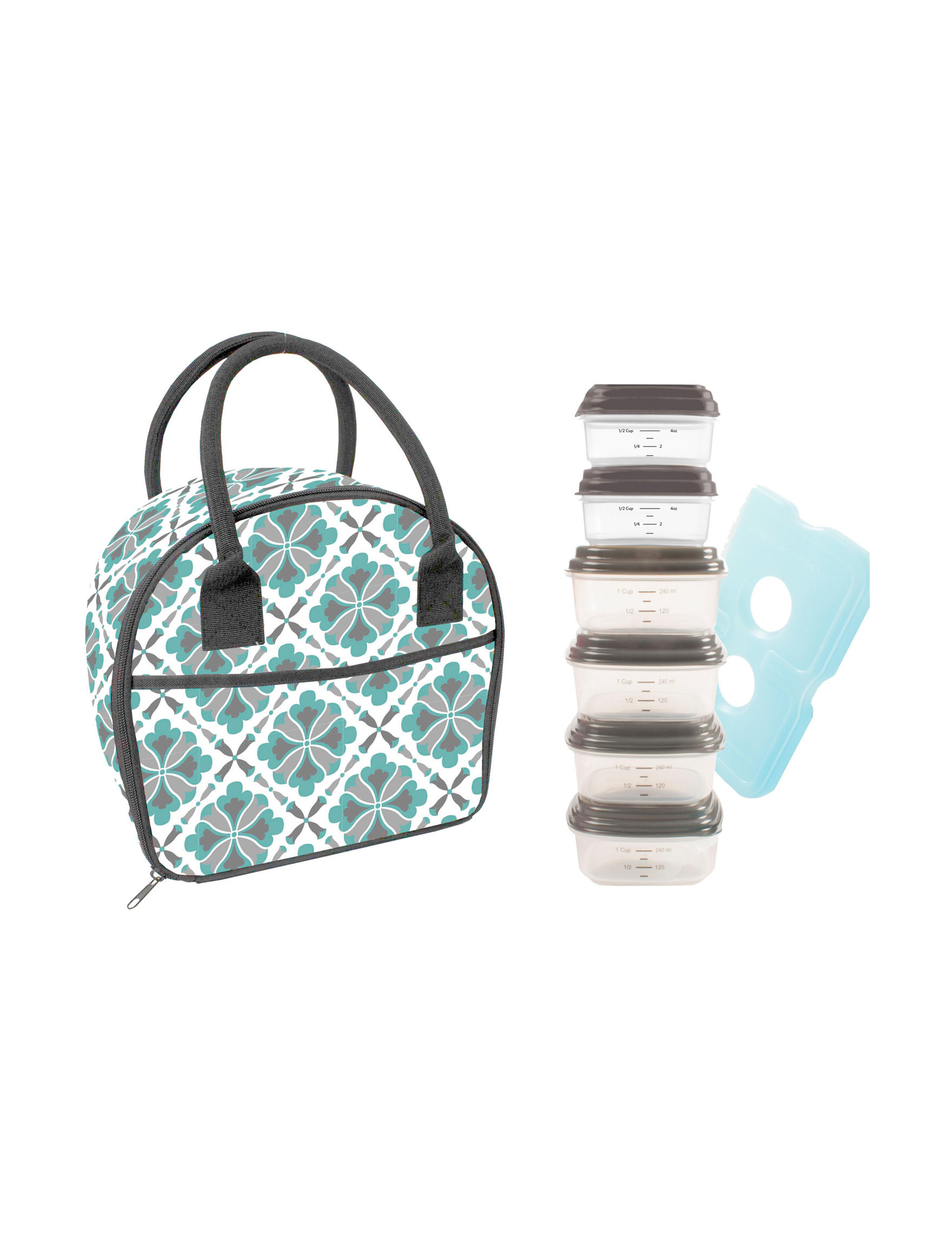 Fit & Fresh Assorted Lunch Boxes & Bags Prep & Tools