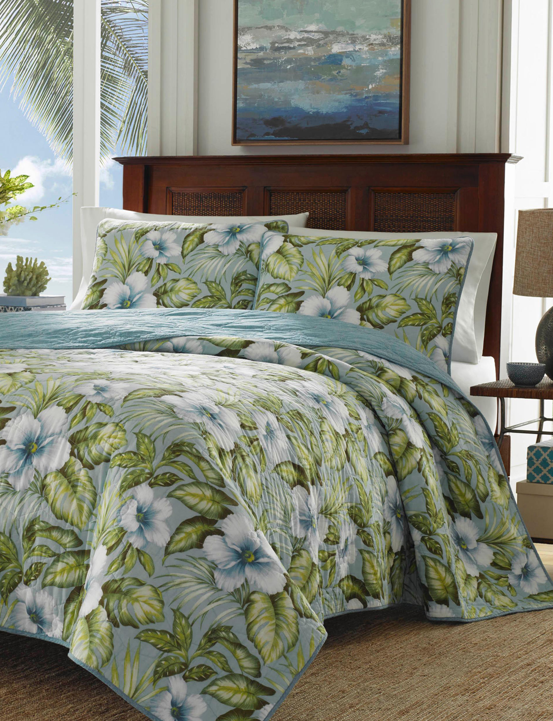 Tommy Bahama Blue Quilts & Quilt Sets