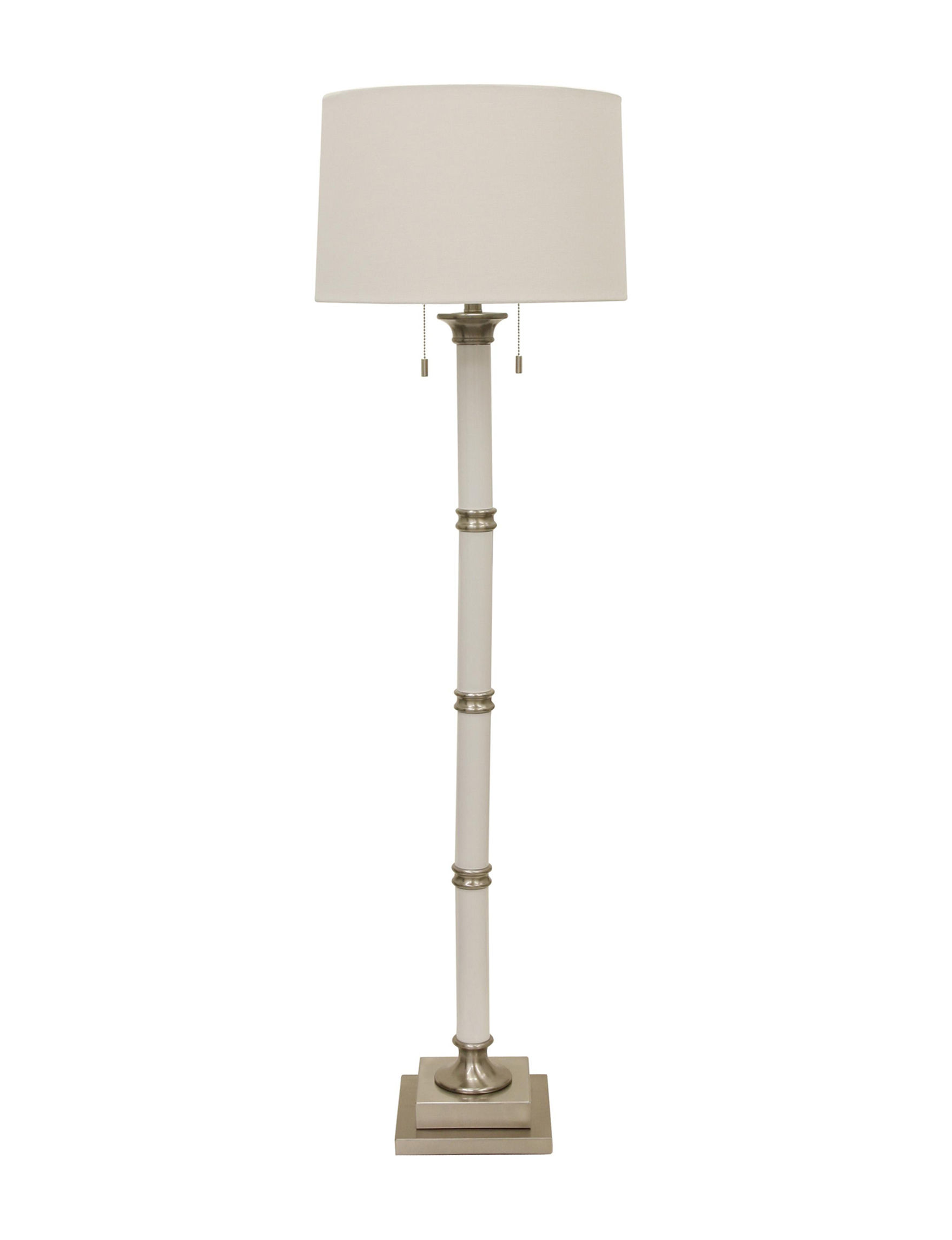 Decor Therapy White / Silver Floor Lamps Lighting & Lamps