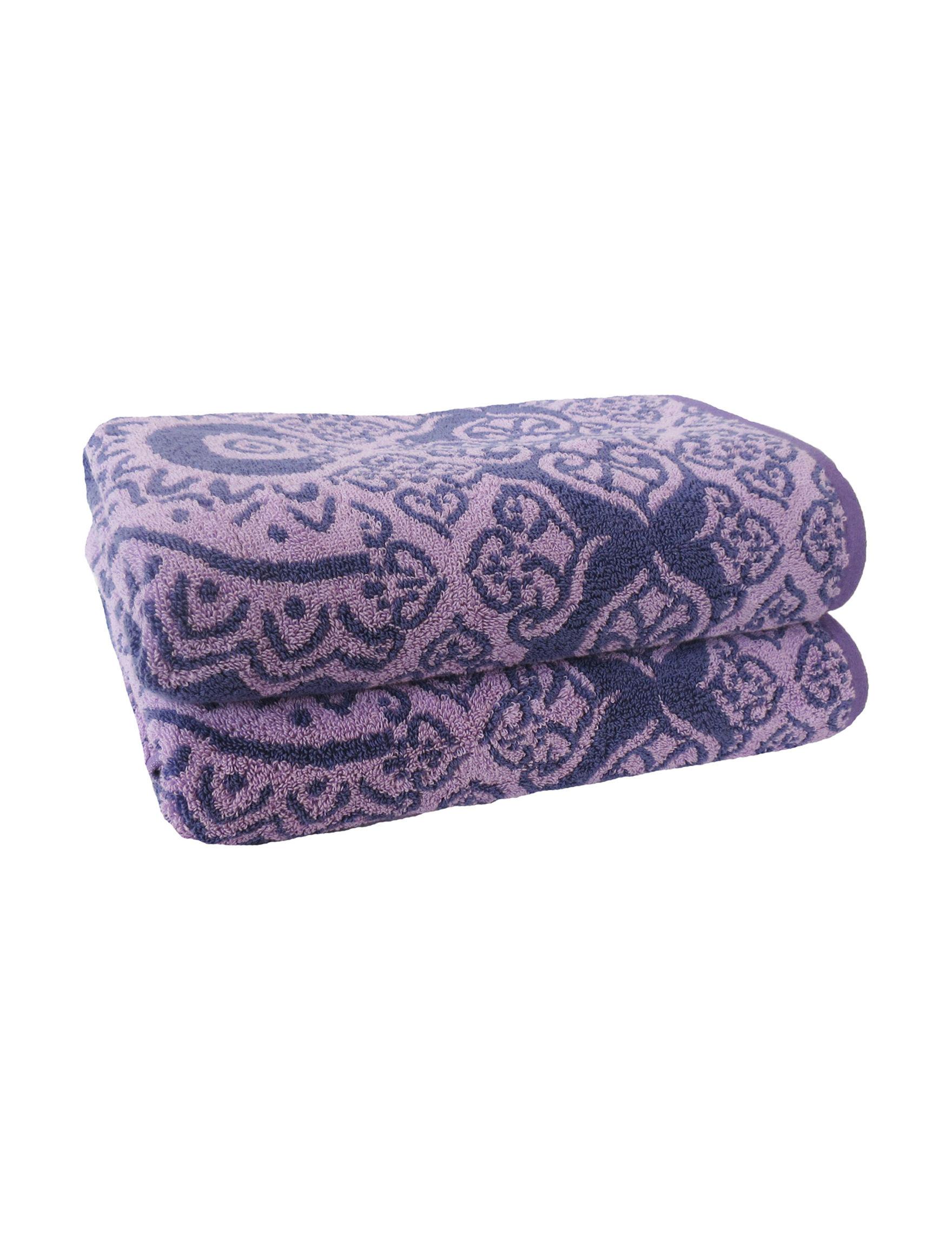 Jessica Simpson Black Bath Towels