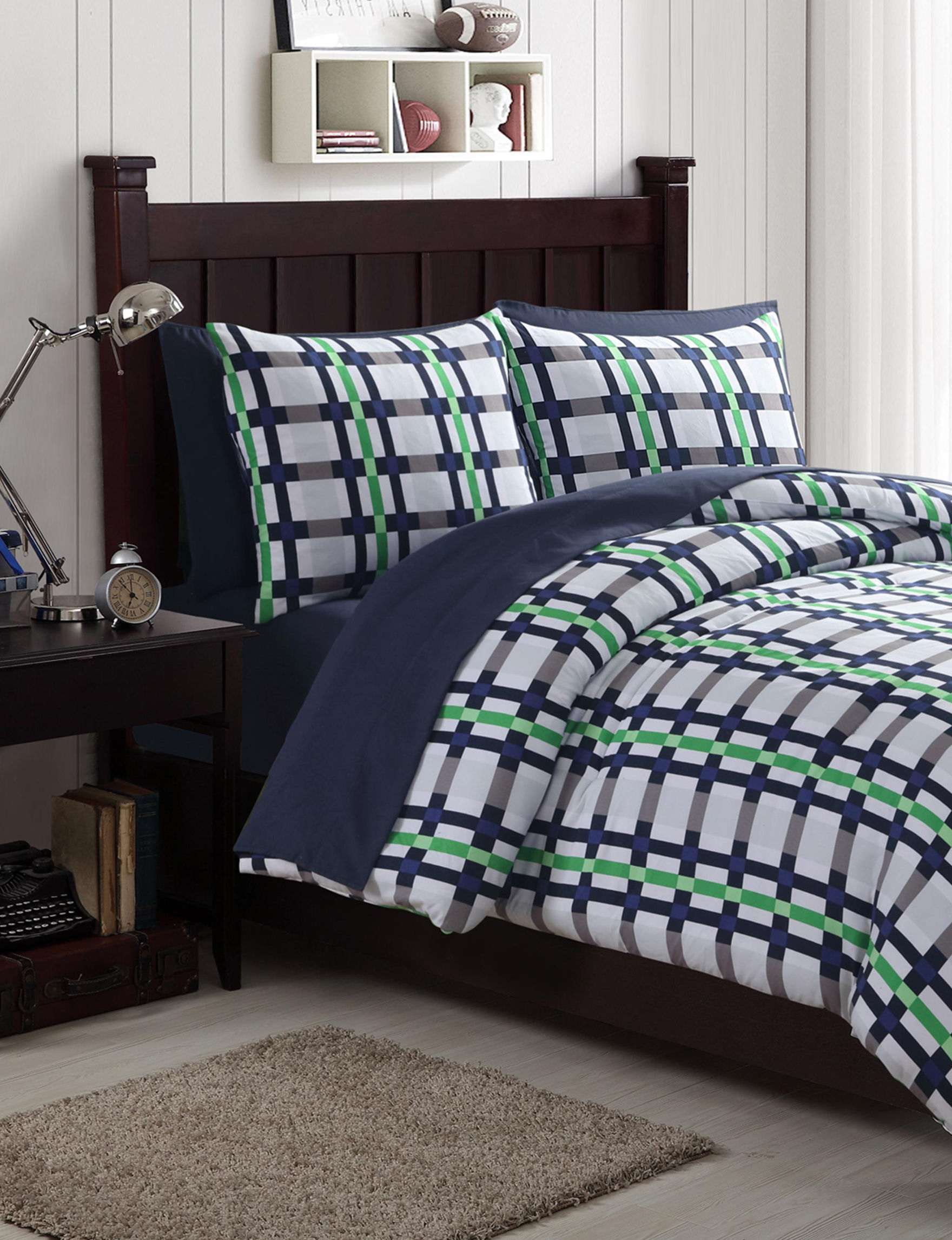 VCNY Home Blue / Green Comforters & Comforter Sets