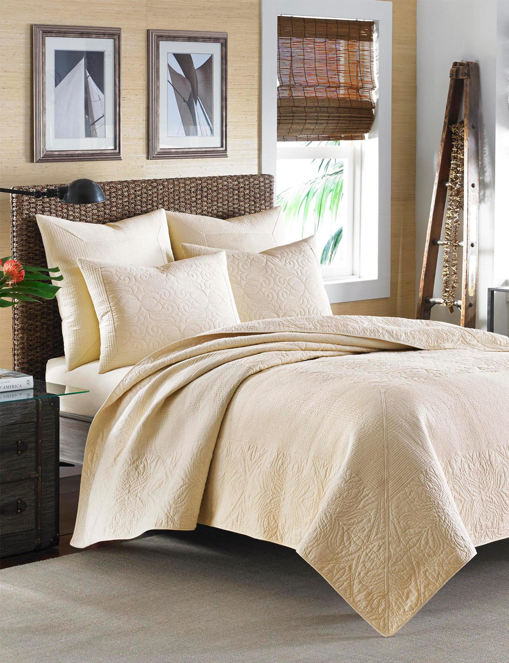 Tommy Bahama Ivory Pillow Shams