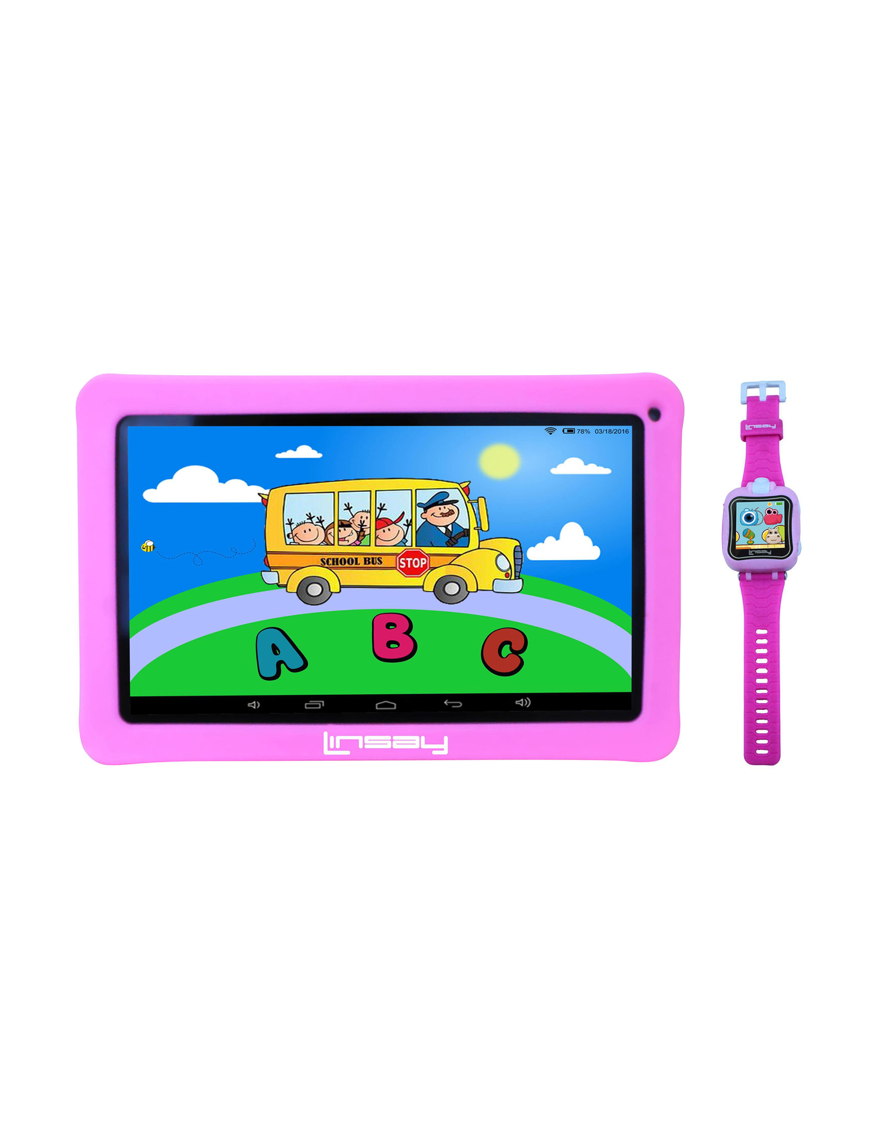 Linsay Pink Tablets Computers & Tablets