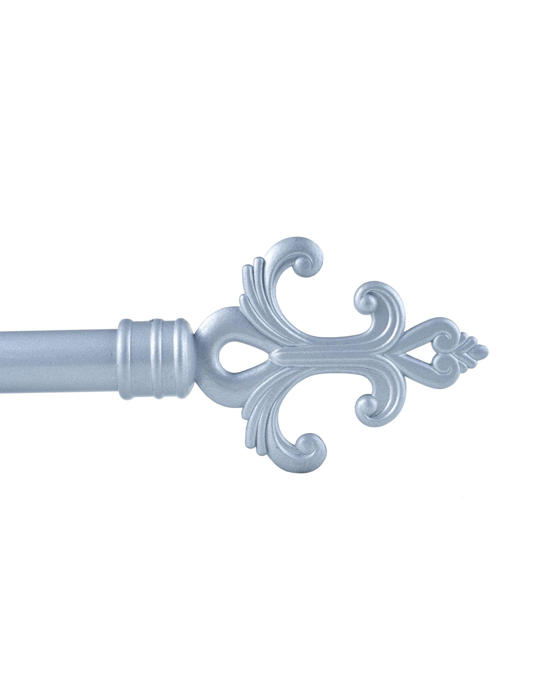 Lavish Home Silver Curtain Rods & Hardware Window Treatments