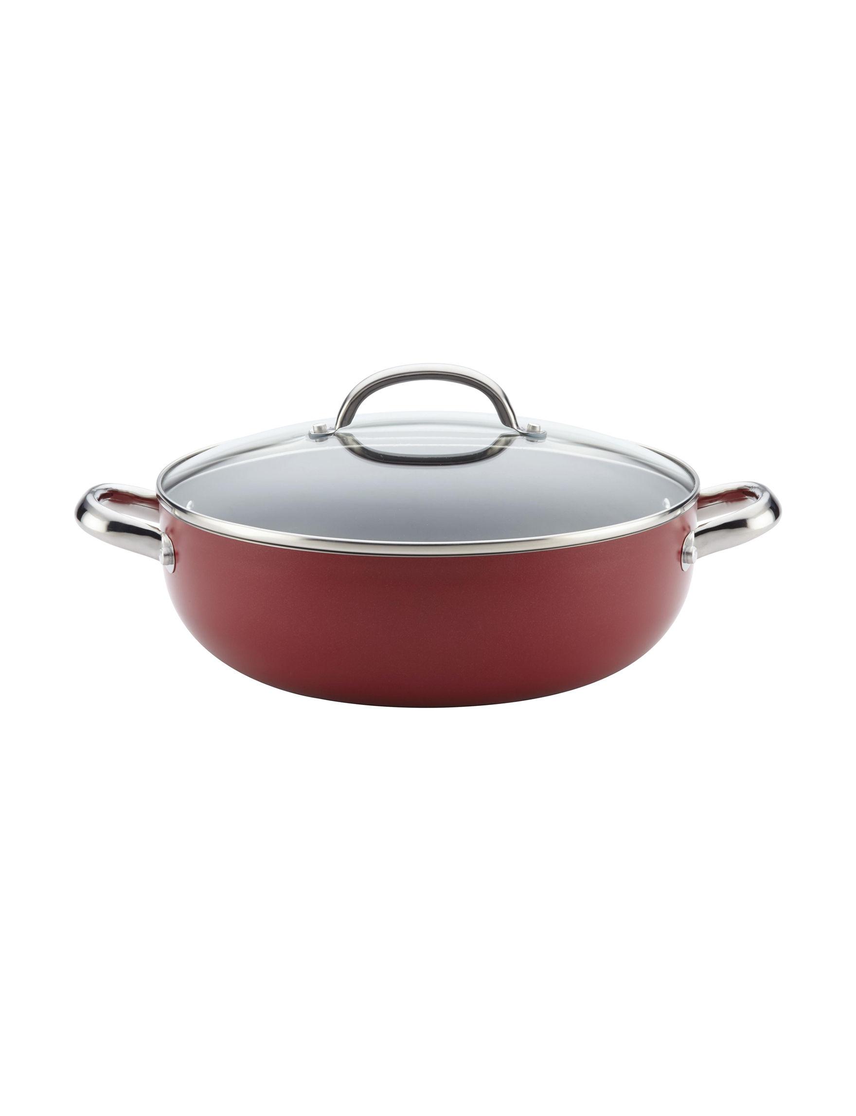 Farberware Dark Red Frying Pans & Skillets Cookware