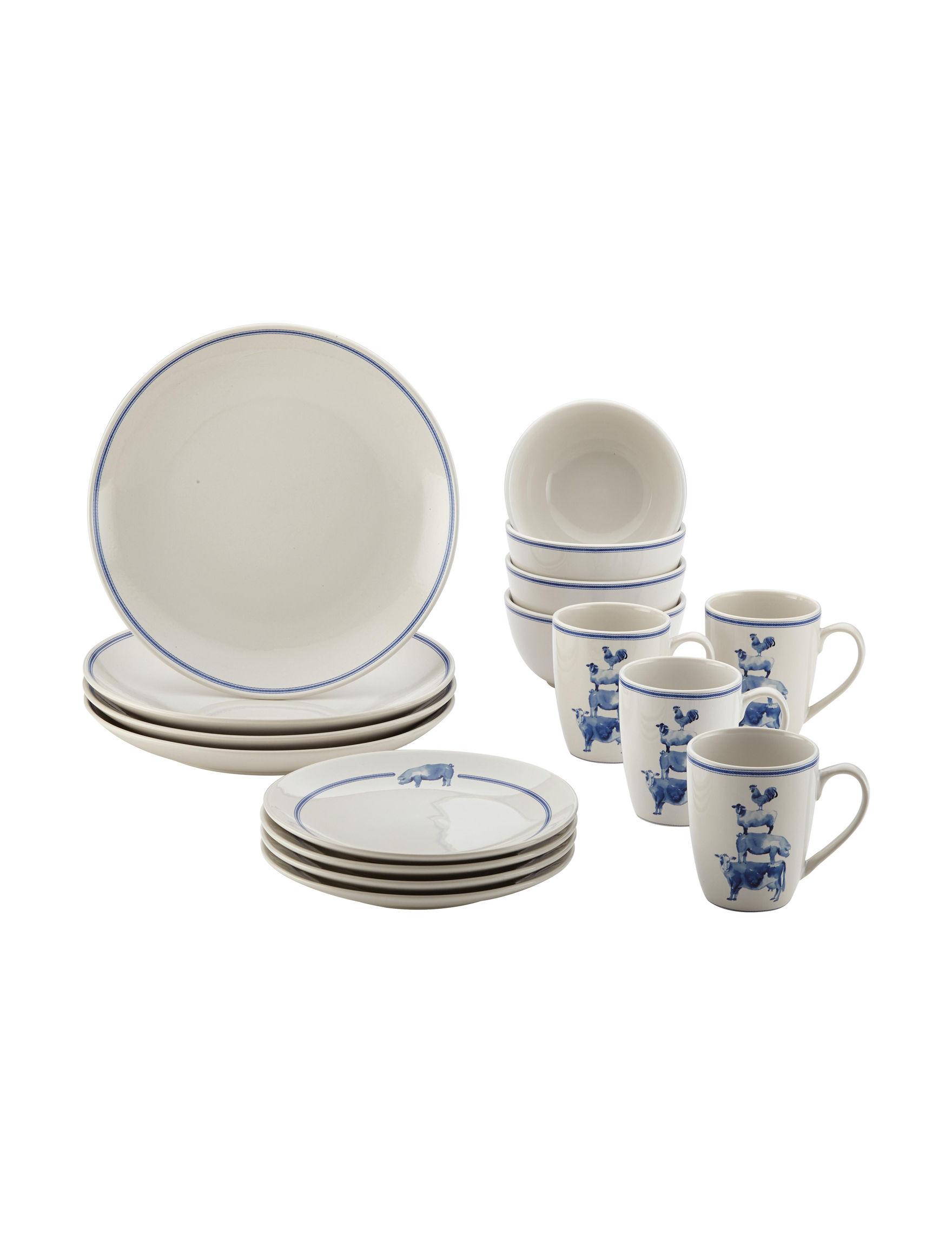 Paula Deen White Dinnerware Sets Dinnerware