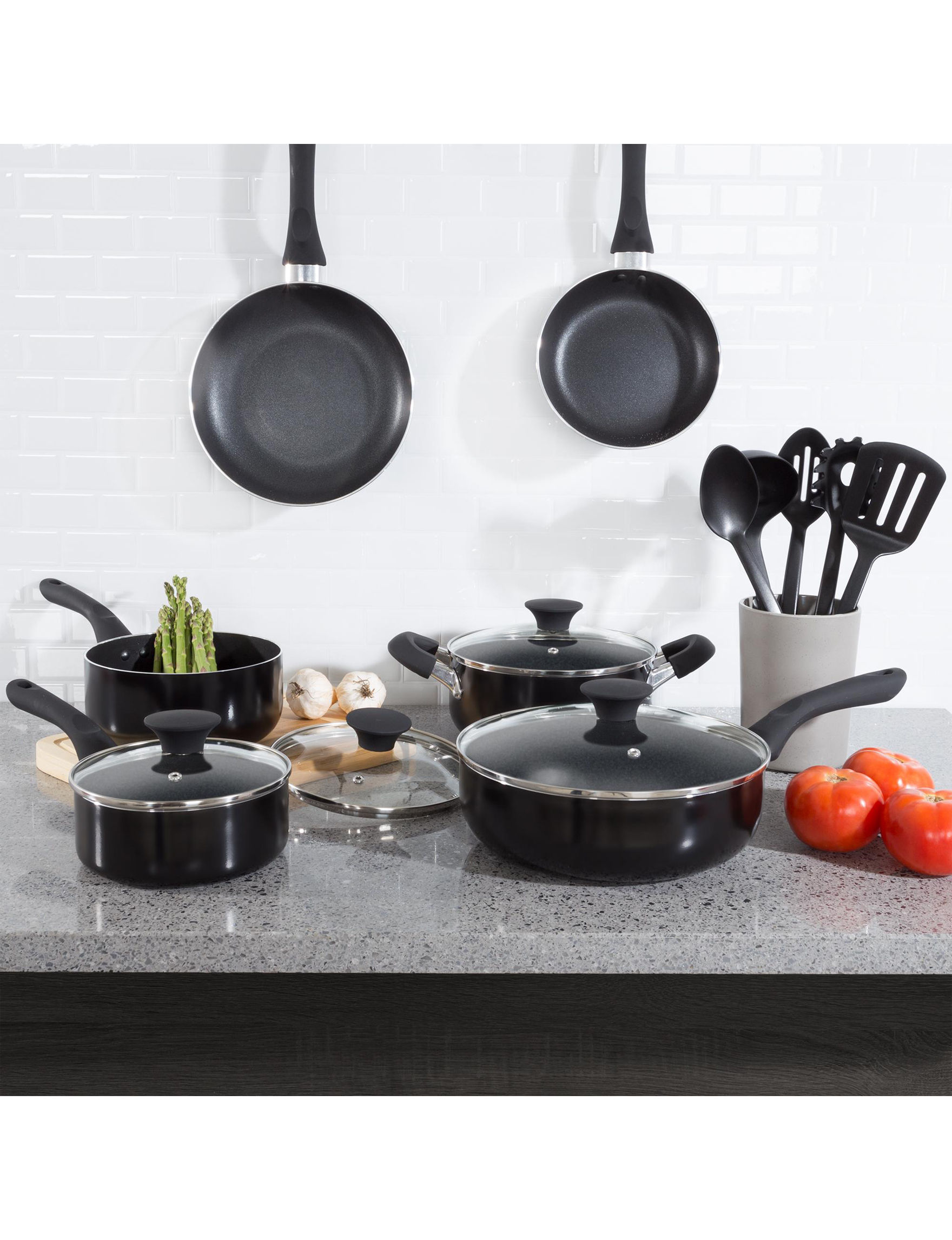 Classic Cuisine Black Cookware Sets Frying Pans & Skillets Kitchen Utensils Cookware