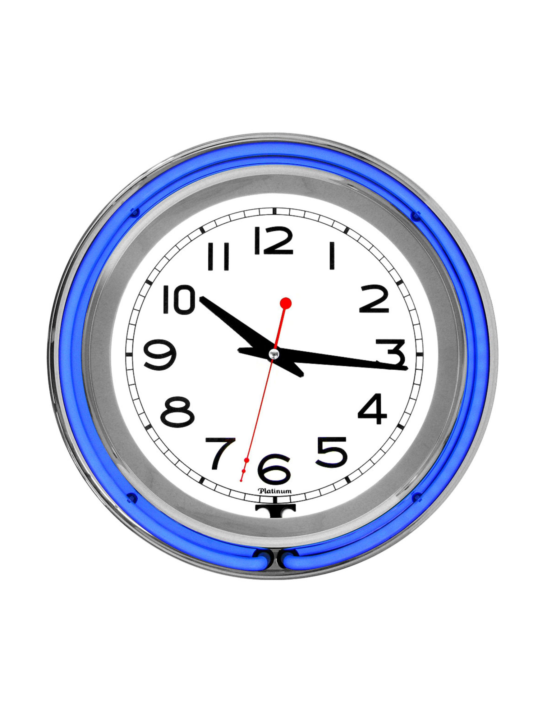 Trademark Global Blue Decorative Objects Wall Clocks Home Accents Wall Decor